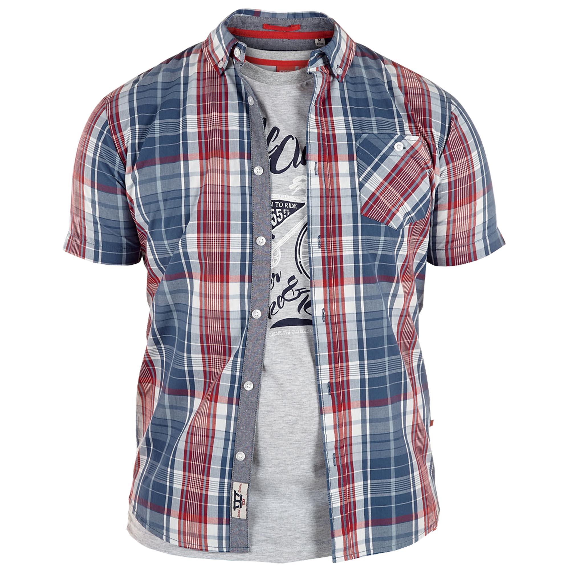 Short Sleeved Checked Blouse Uk 4