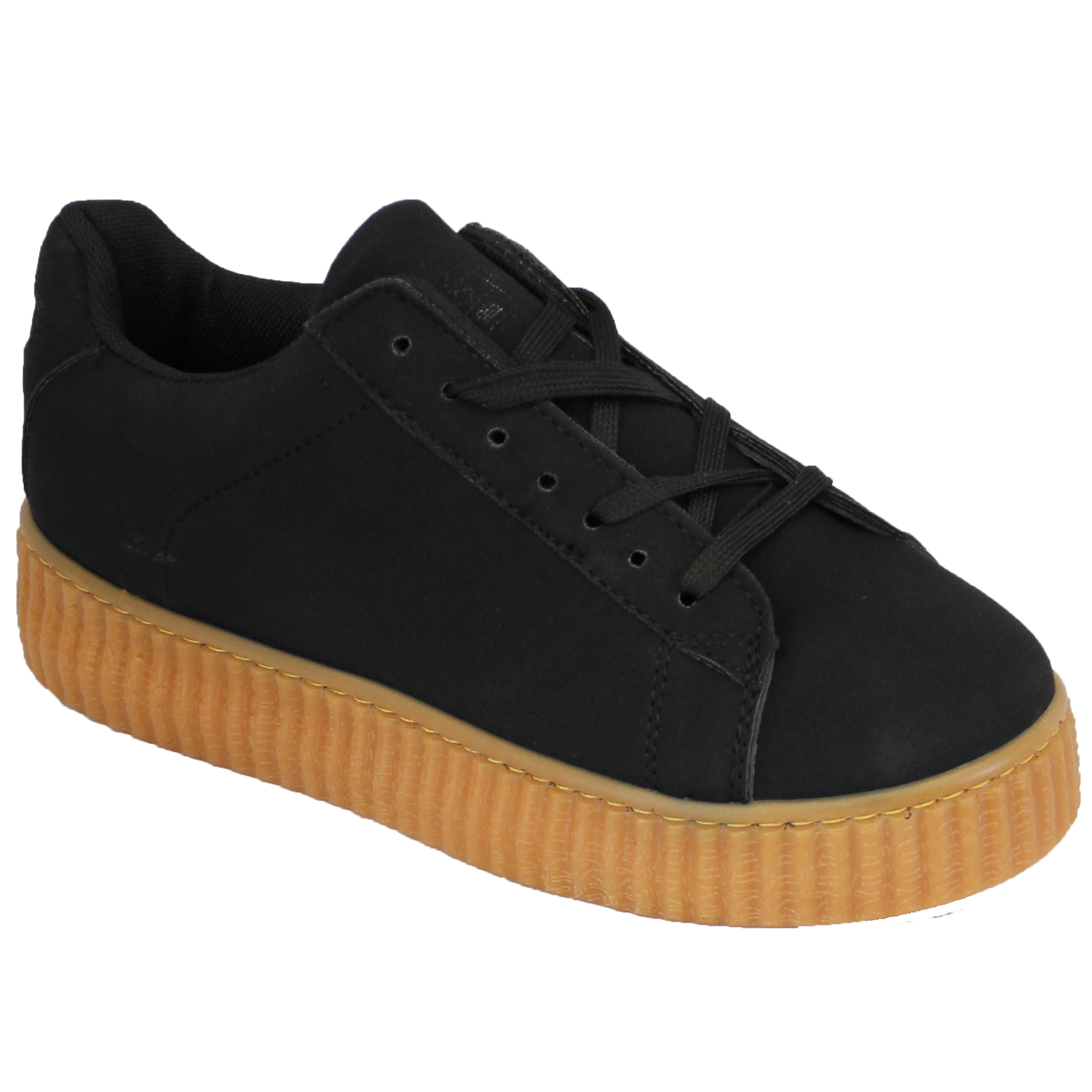 womens creepers pumps trainers lace up platform