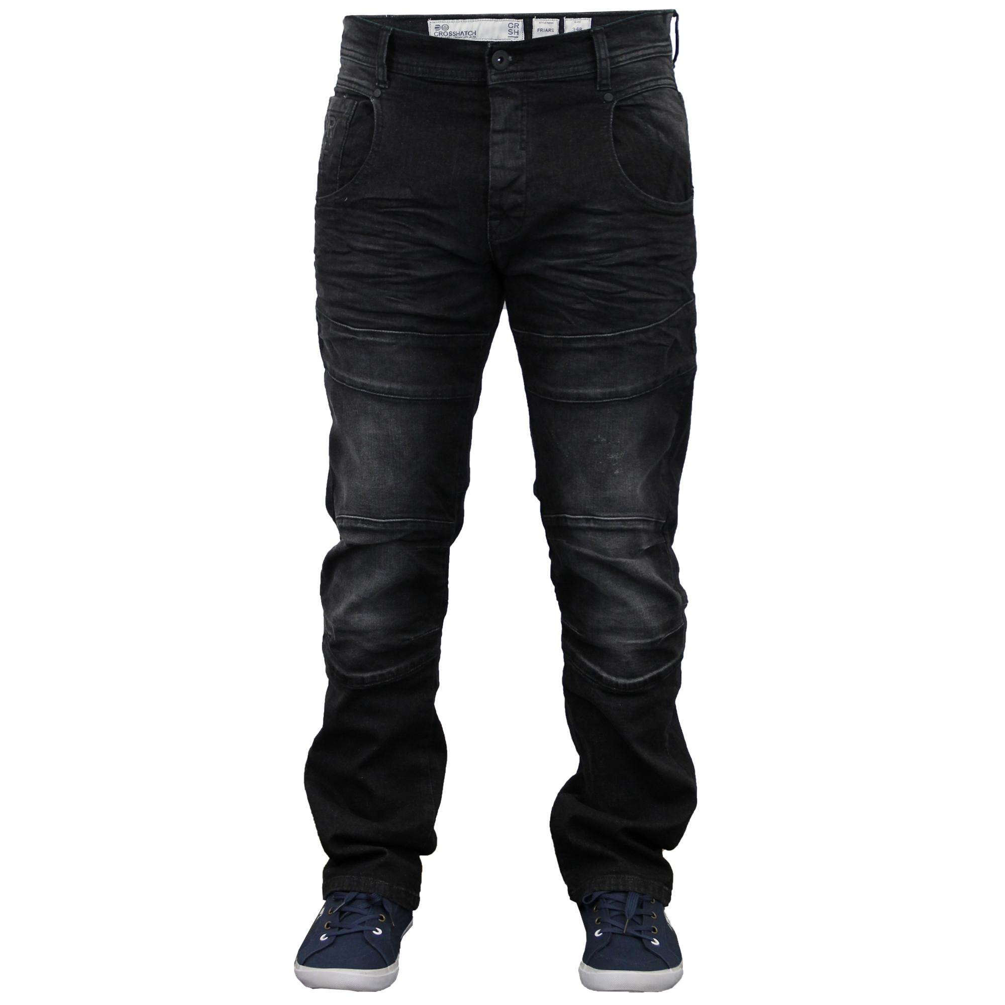mens cargo combat pants denim jeans by crosshatch
