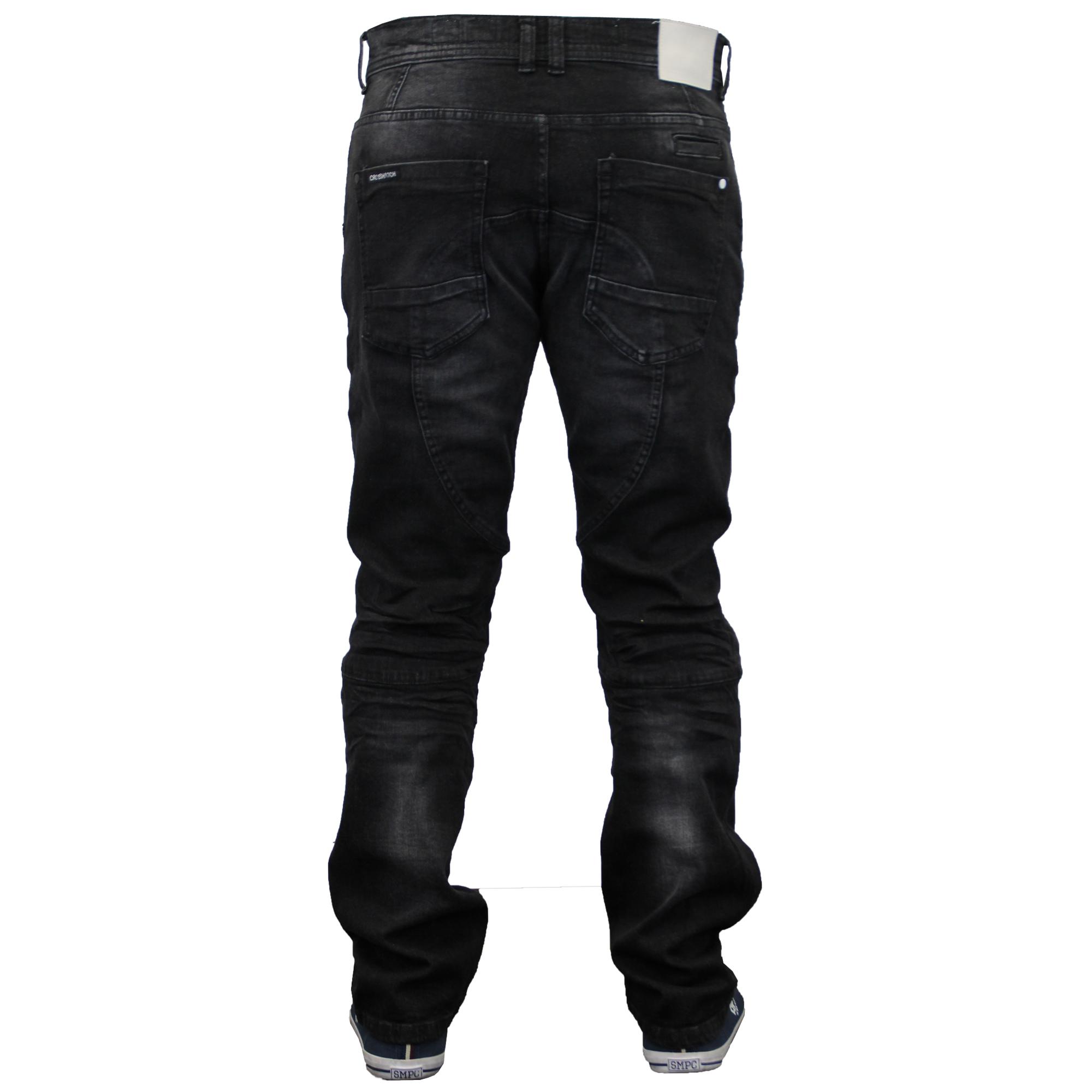 mens cargo combat pants denim jeans by crosshatch ebay