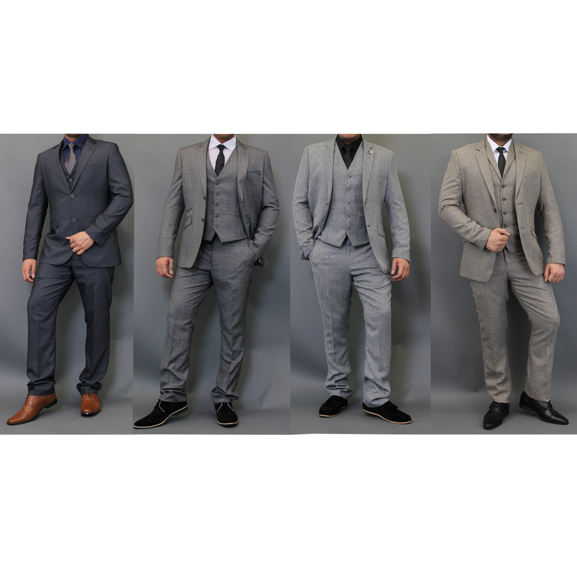 mens tweed checked blazers waistcoats trouser 3 piece suits by cavani ebay. Black Bedroom Furniture Sets. Home Design Ideas