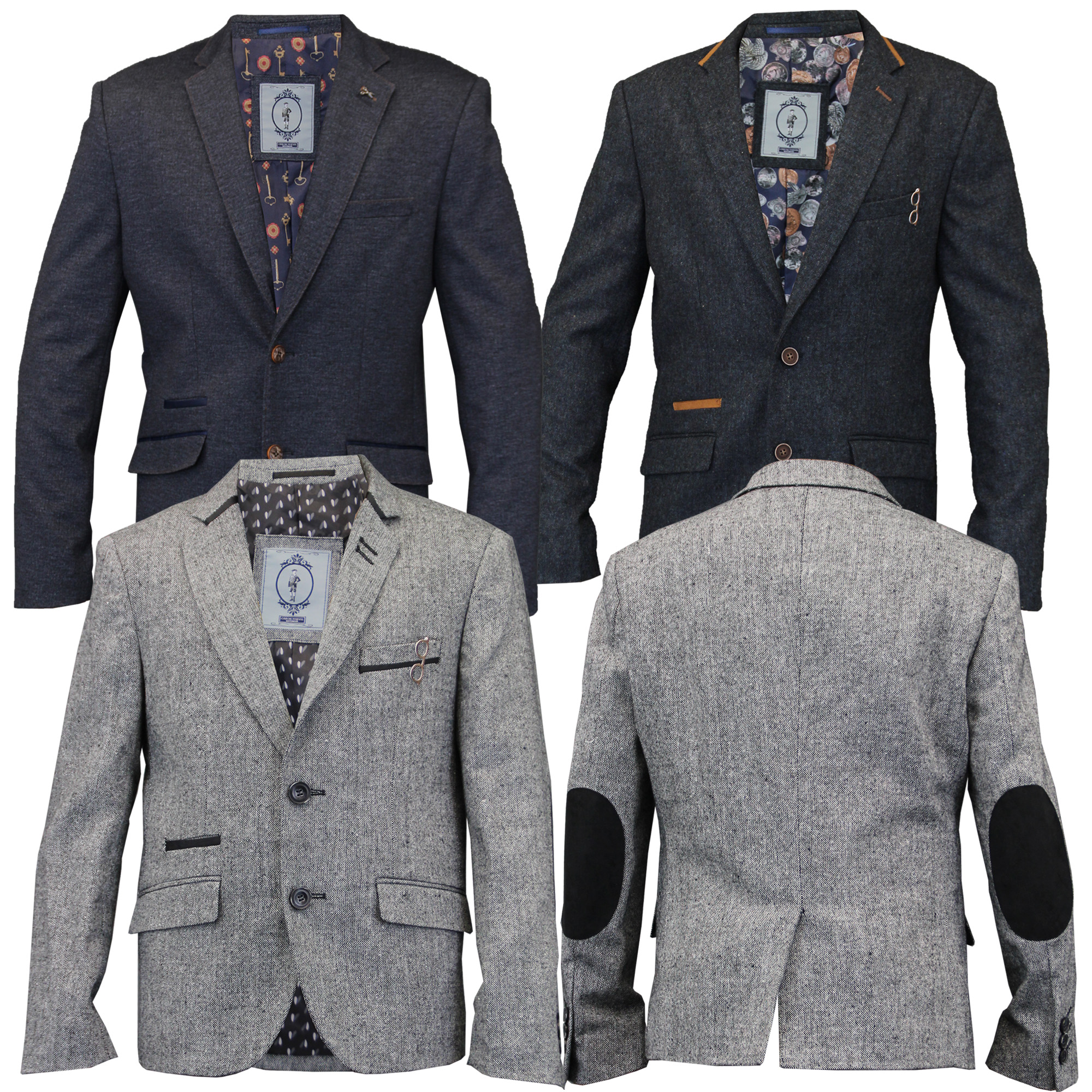 Gucci Boys' Embroidered Wool Blazer Grey. Guaranteed Authentic! Gucci Infant boys' grey Gucci wool blazer with notched lapels, embroidered logo patch at front, dual flap pockets at waist and button closures at front. Designer size months.