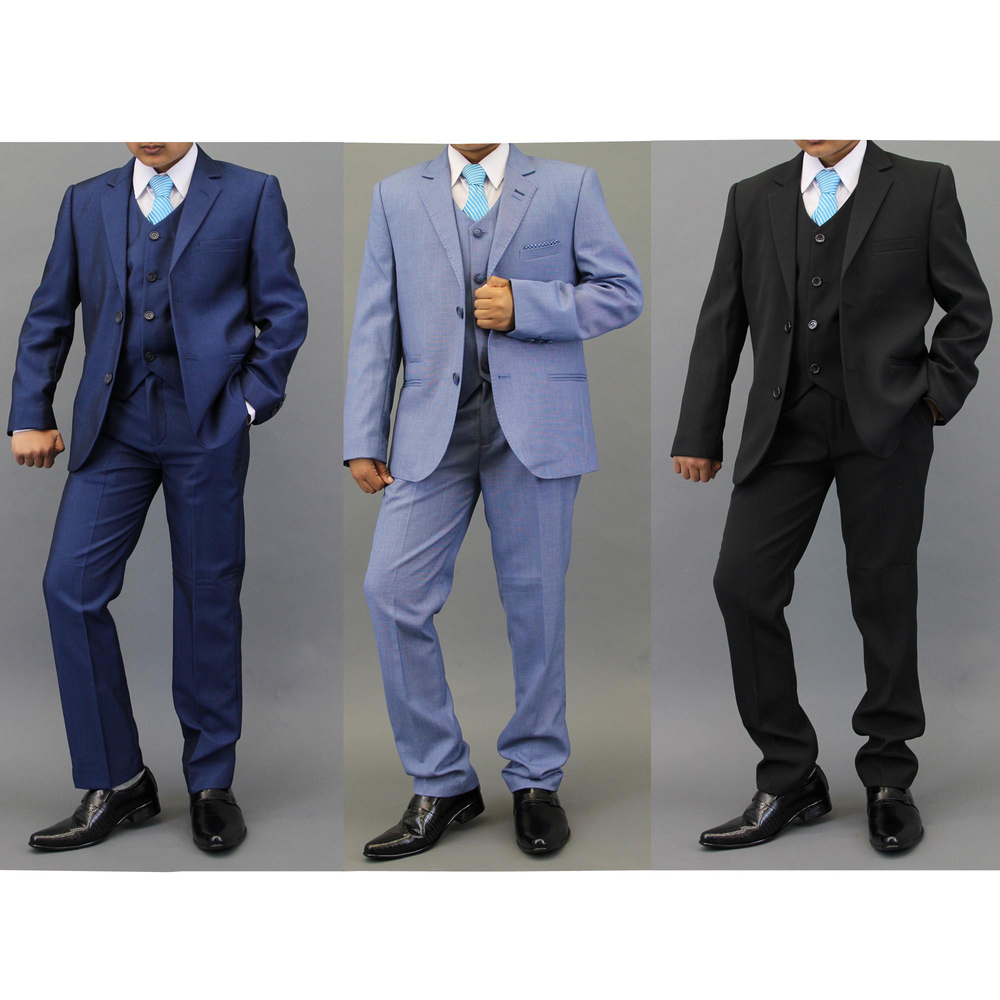 Boys Kids Blazers Waistcoats Trouser 3 Piece Suits By Creon Previs