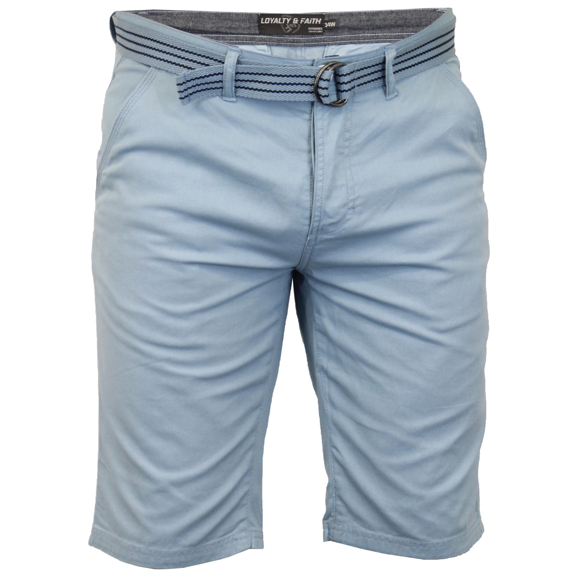 Pantaloncini Chino Da Uomo Logoro cotone Oxford con Cintura LOYALTY /& FAITH sette serie