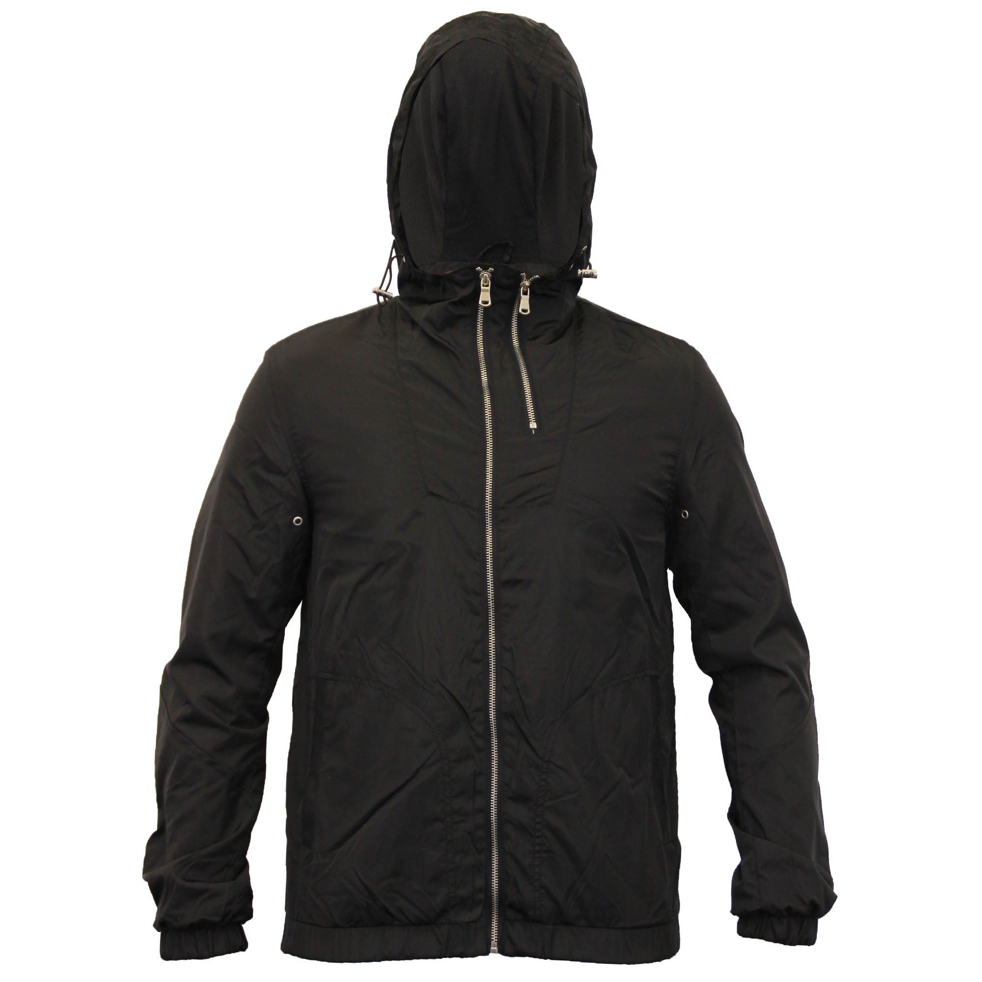 Mens Windbreaker Hooded Jacket Coat By Brave Soul Mesh Lined | eBay