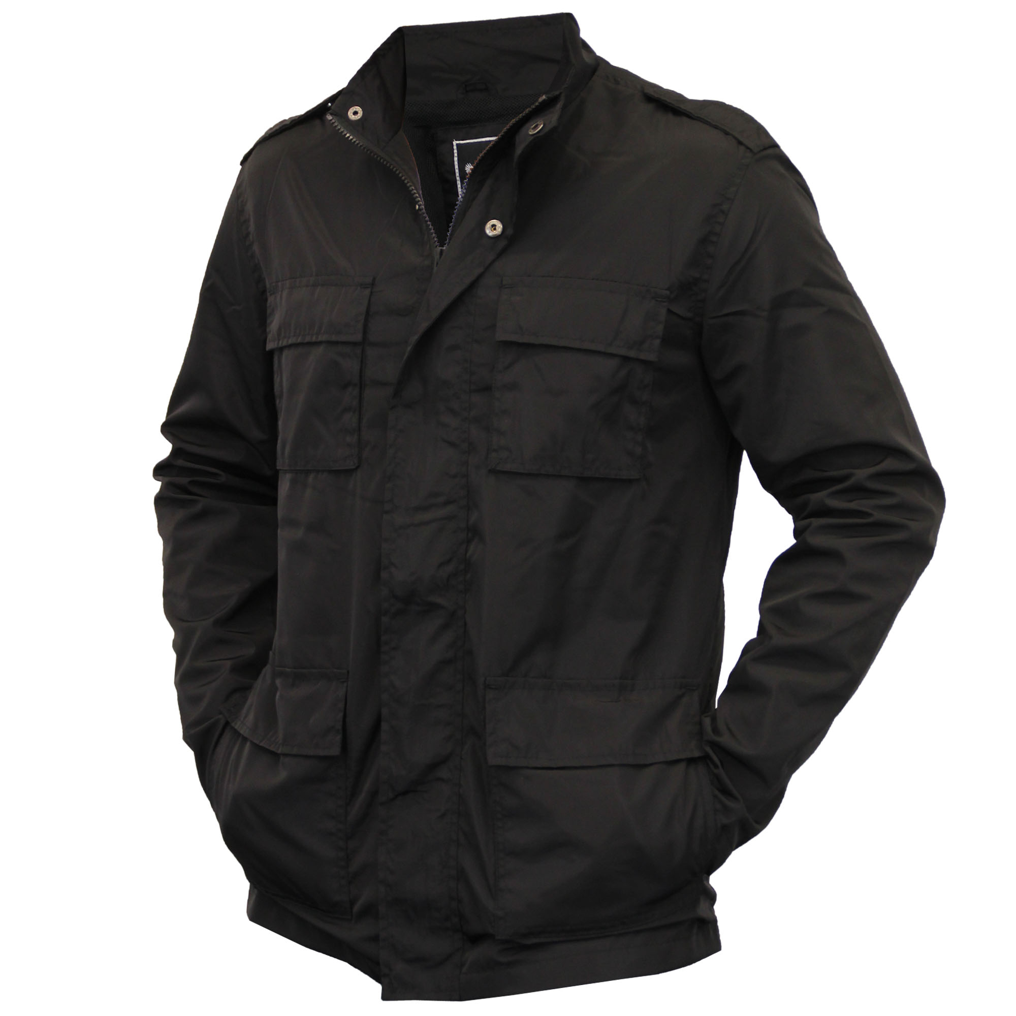 Military jackets generally come in neutral colors like grey, black, beige or olive green. They can be cargo jackets, pea coats, or even Michael Jackson style majorette or band jackets. Fashionable companies like Hollister and Ralph Lauren often base their designs on the designs of the actual military.