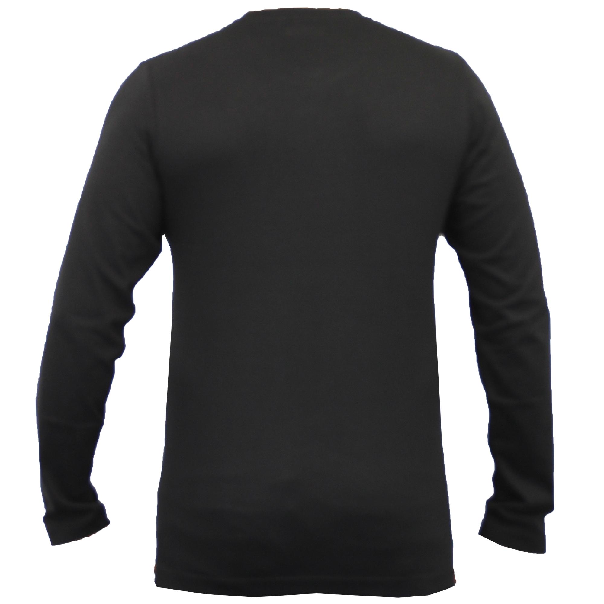 Mens long sleeved striped jersey top t shirt by brave soul for Mens striped long sleeve t shirt