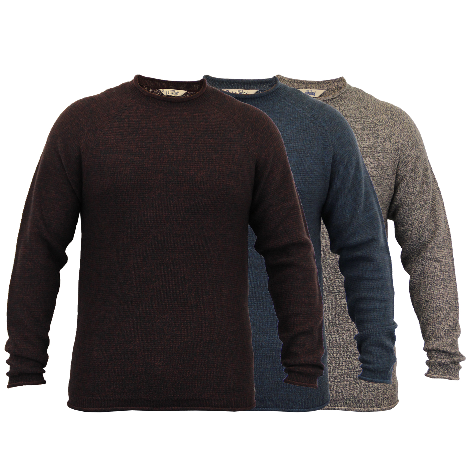 Knitting Mens Jumpers : Mens knitted wool blend jumper pullover top winter sweater