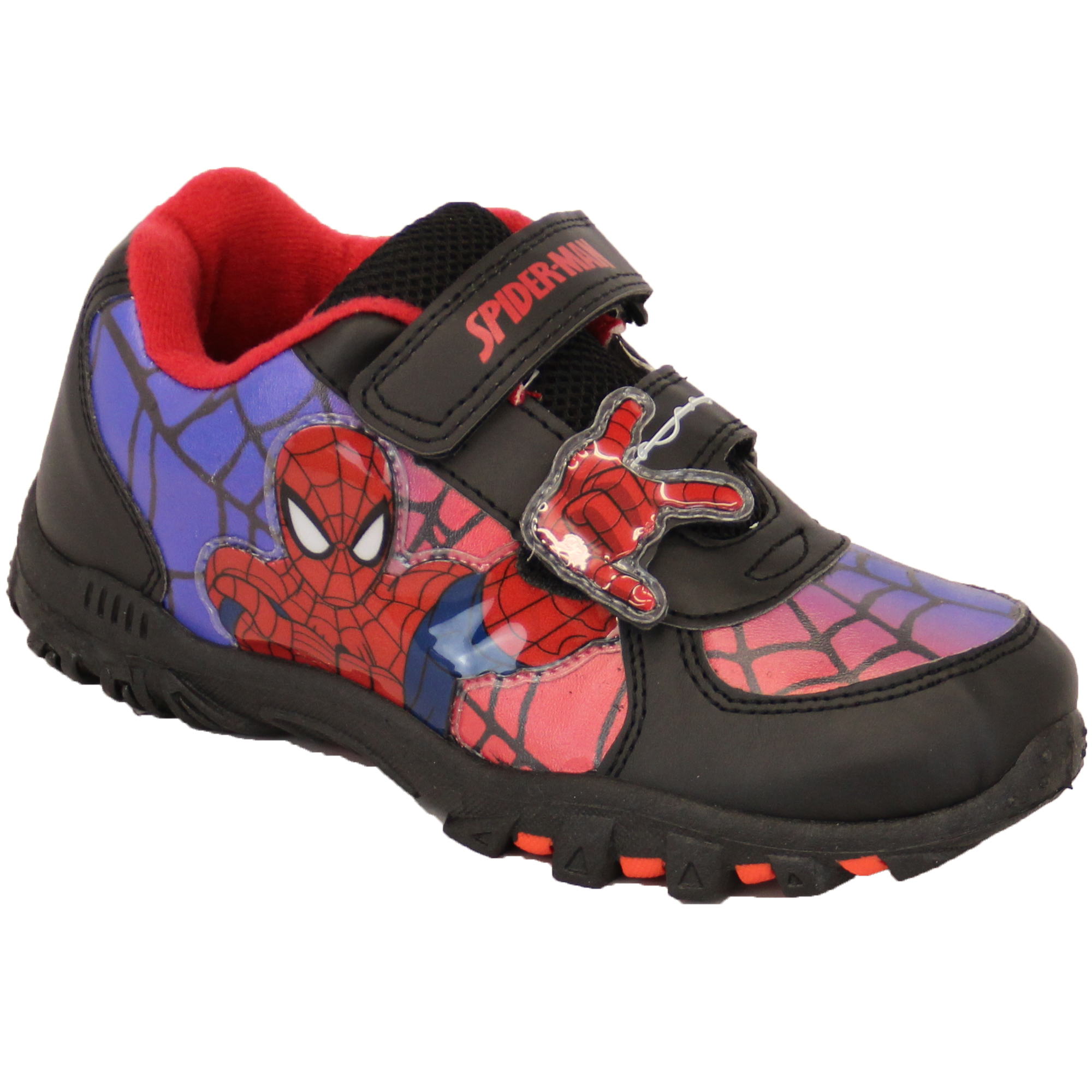 Boys Spiderman Avenger Marvel Trainers Velcro Storm