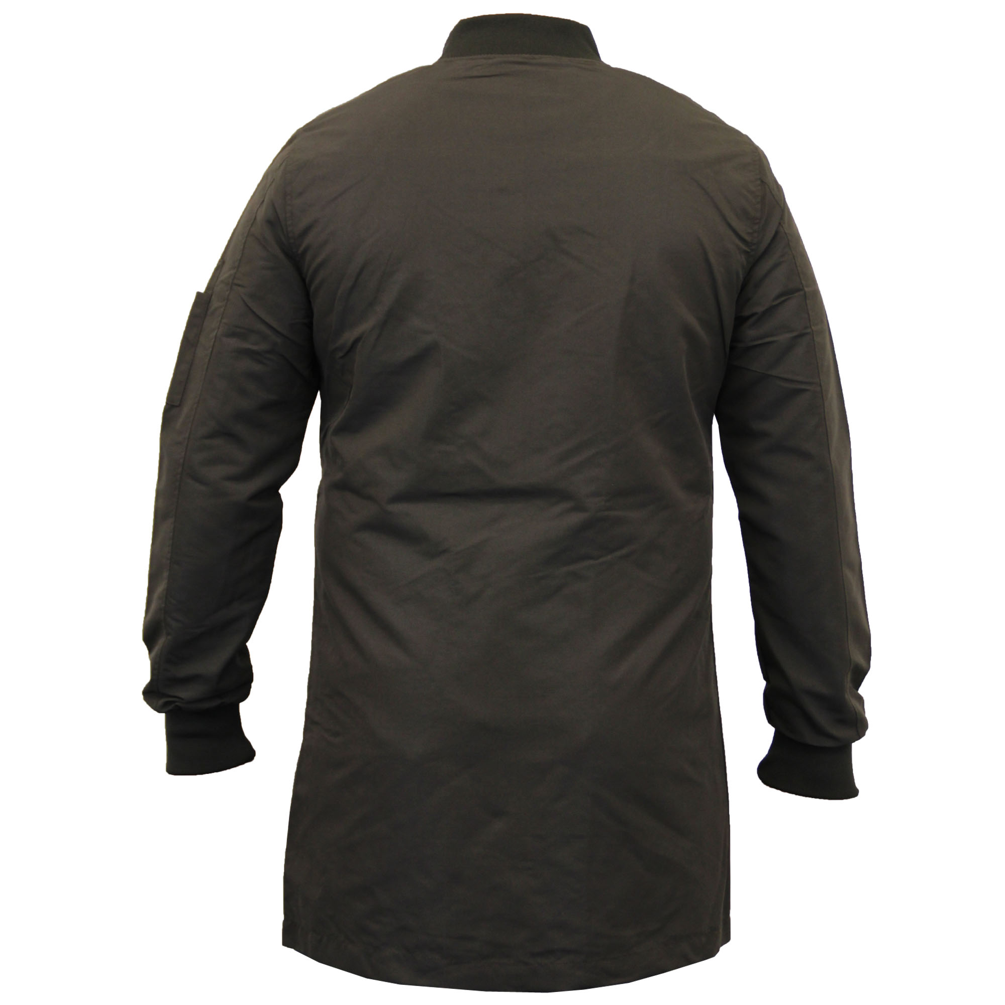 mens jacket brave soul long ma1 harrington military. Black Bedroom Furniture Sets. Home Design Ideas