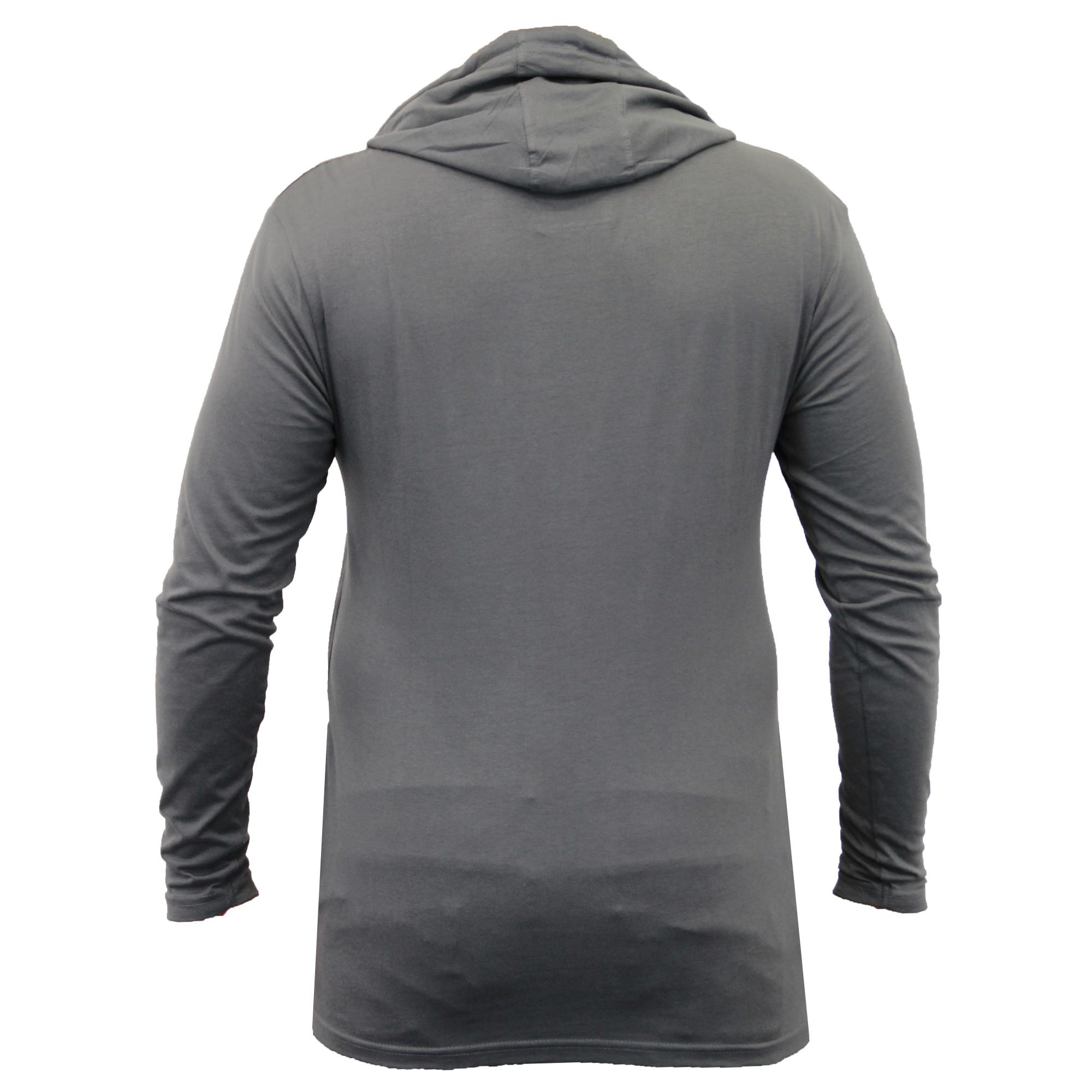 herren lange linie mit kapuze jersey oberteil soul star halbrunder saum t shirt ebay. Black Bedroom Furniture Sets. Home Design Ideas