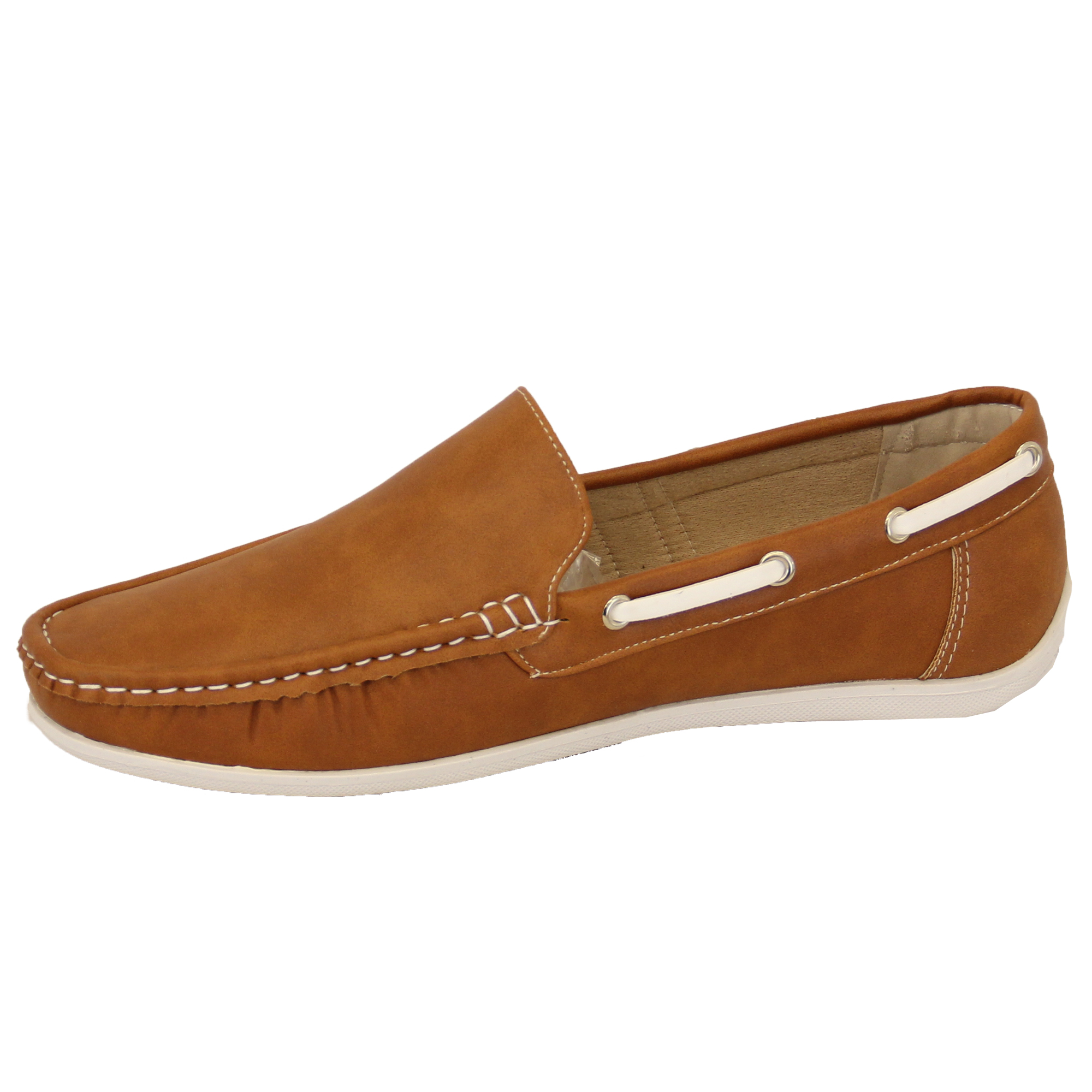 Mens Slip On Boat Deck Loafers Shoes Velcro