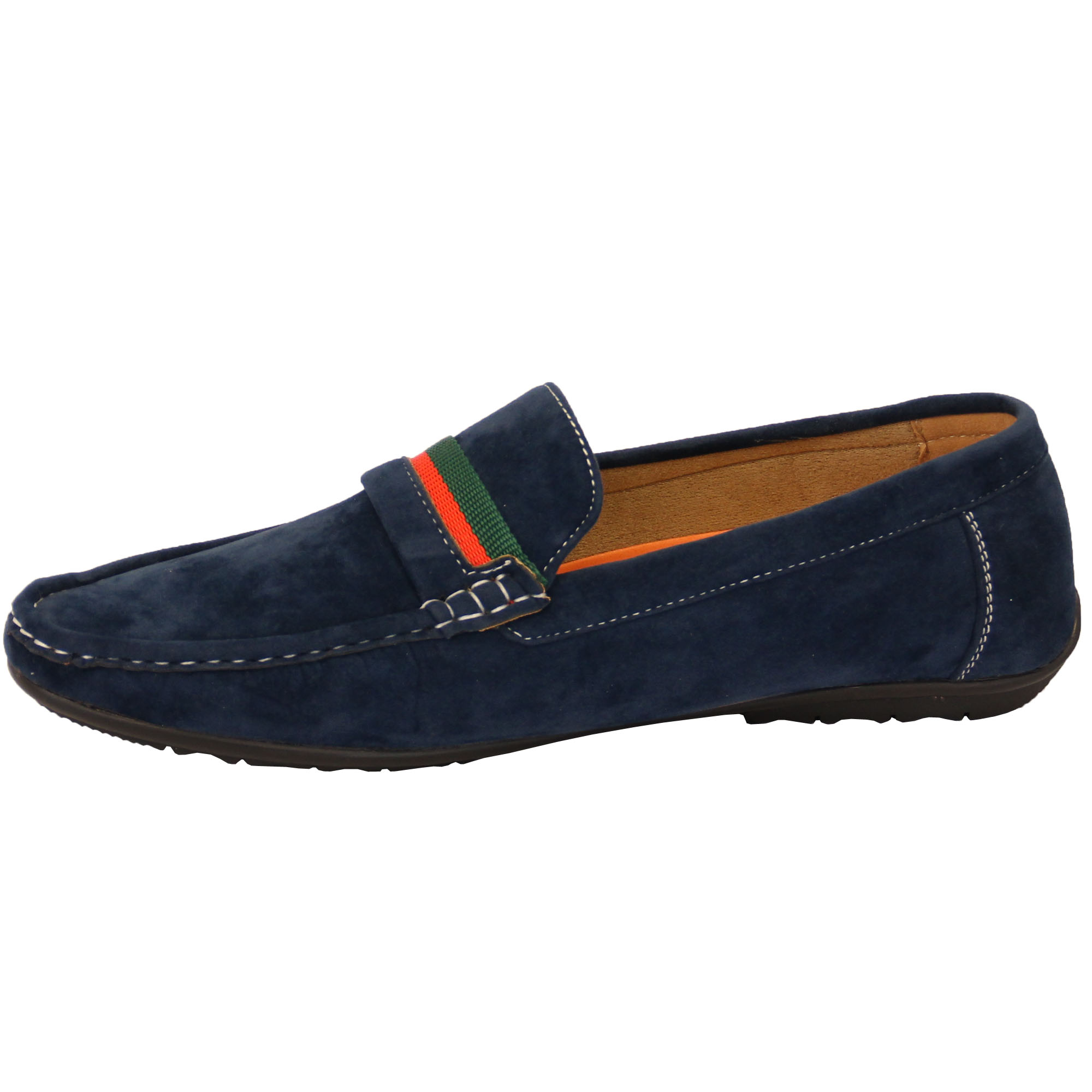 mens moccasins suede look driving loafers slip on boat