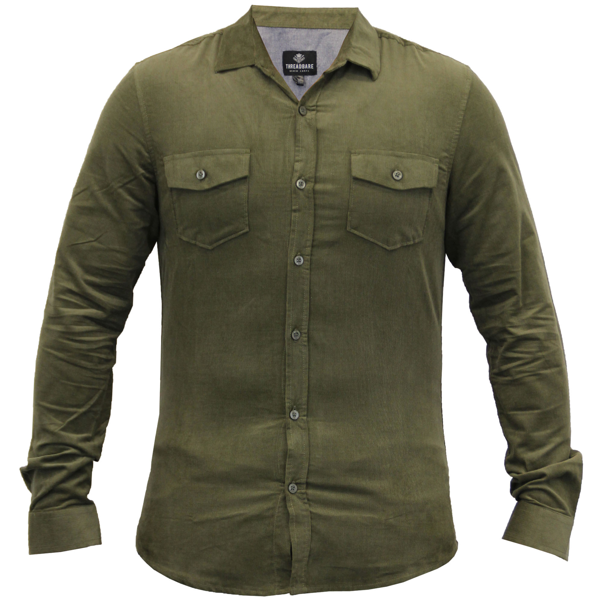 mens cord shirts threadbare corduroy collared long sleeved