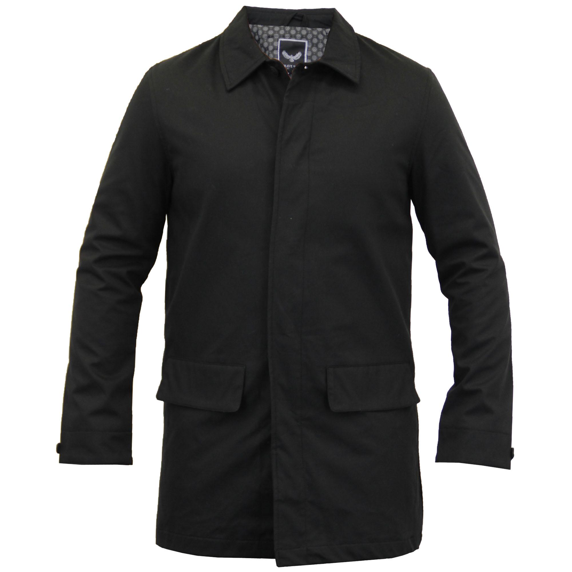 veste pour hommes brave soul manteau long mec trench coton chic d contract. Black Bedroom Furniture Sets. Home Design Ideas