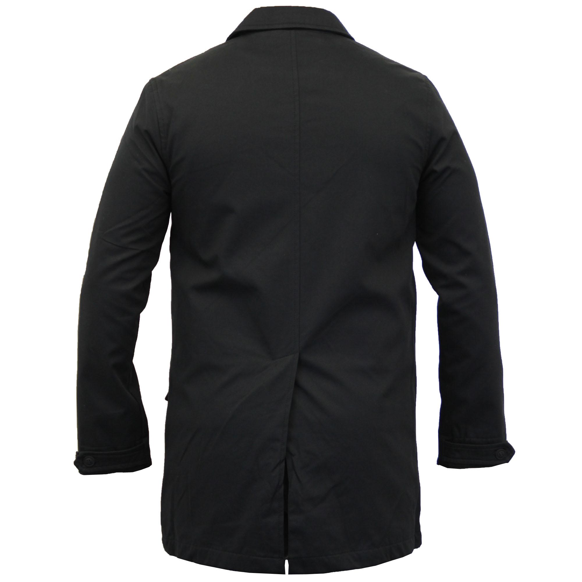 Mens Jackets Brave Soul Long Coat Mac Trench Cotton Smart