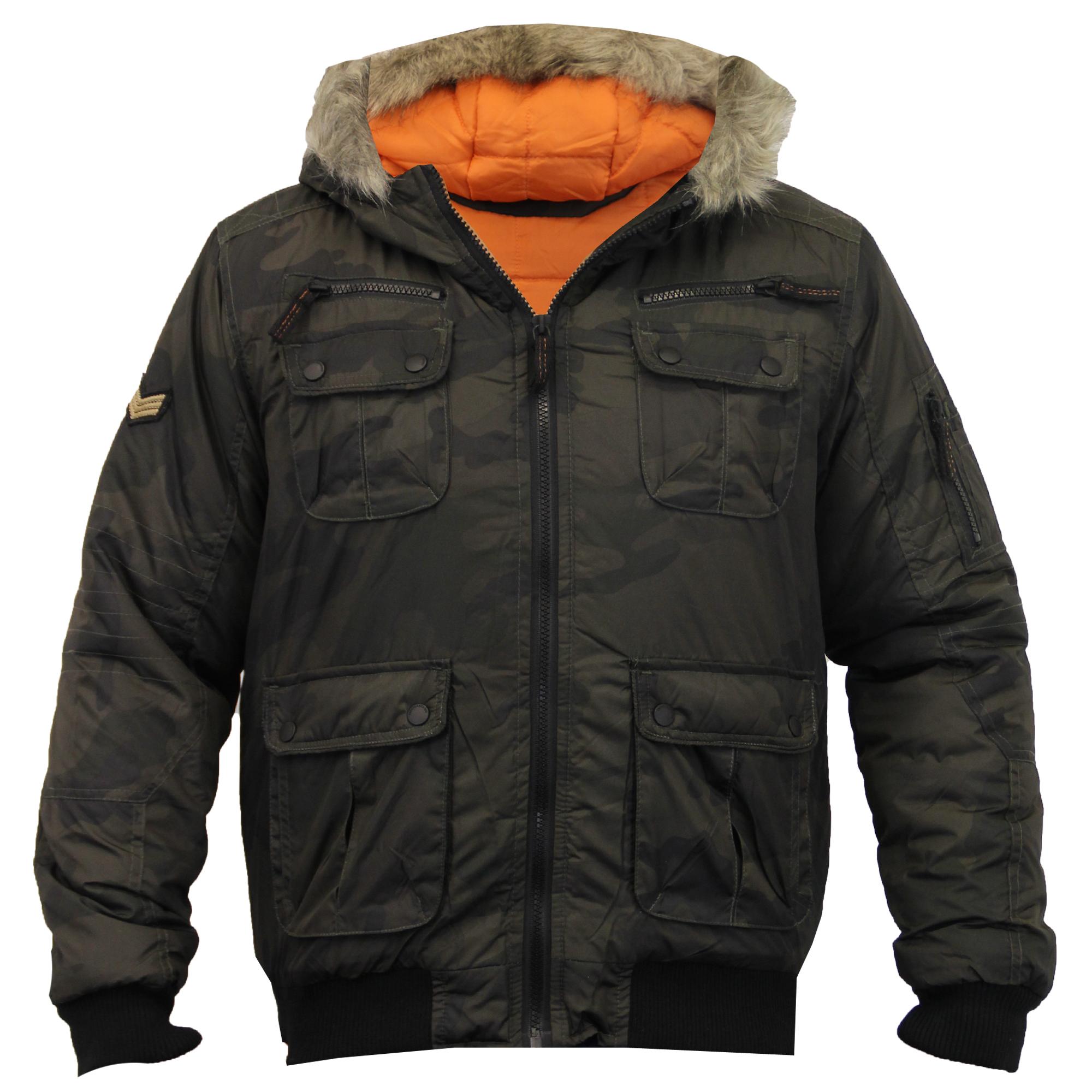 boys jacket brave soul kids coat camouflage military. Black Bedroom Furniture Sets. Home Design Ideas