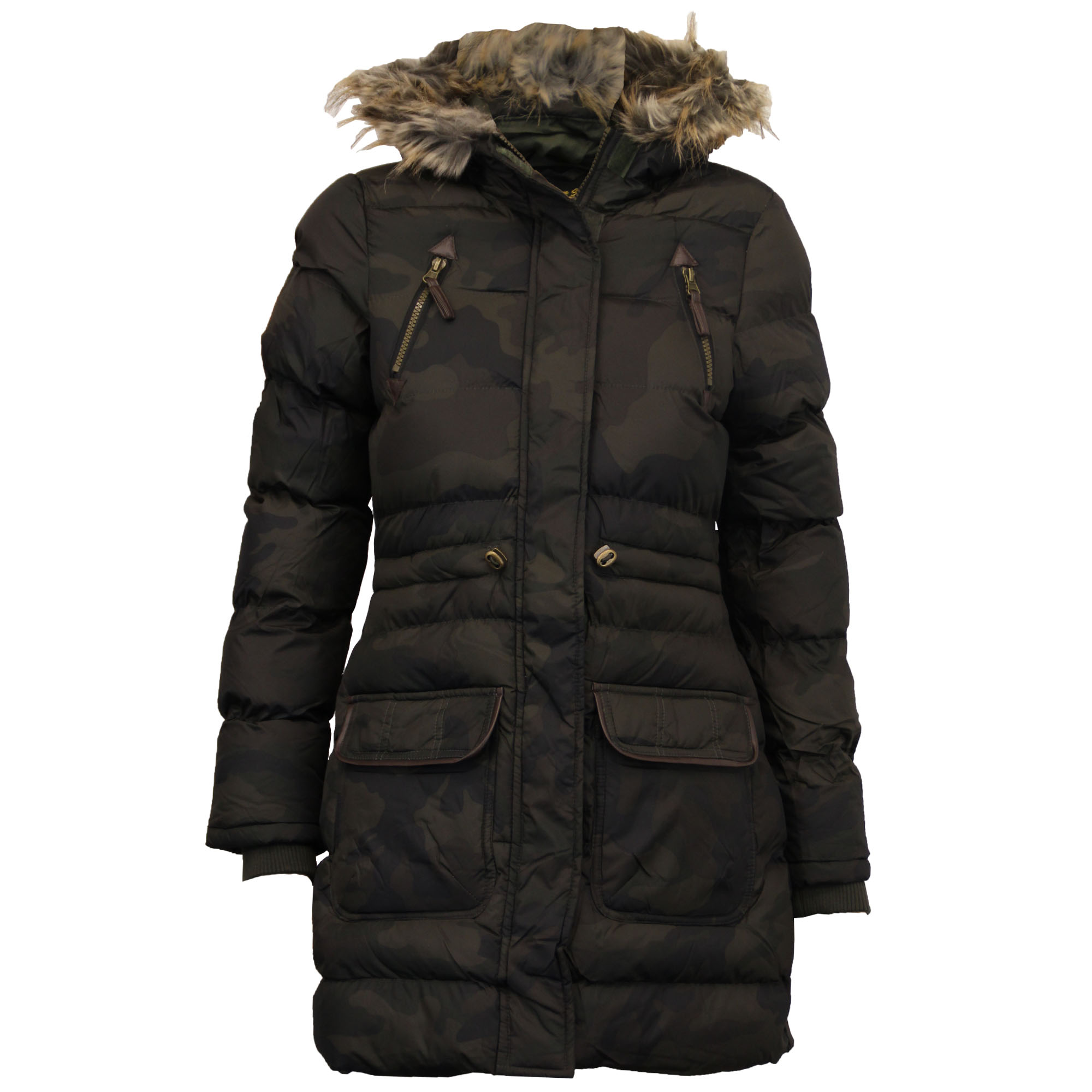 ladies bubble jacket brave soul womens coat camouflage. Black Bedroom Furniture Sets. Home Design Ideas
