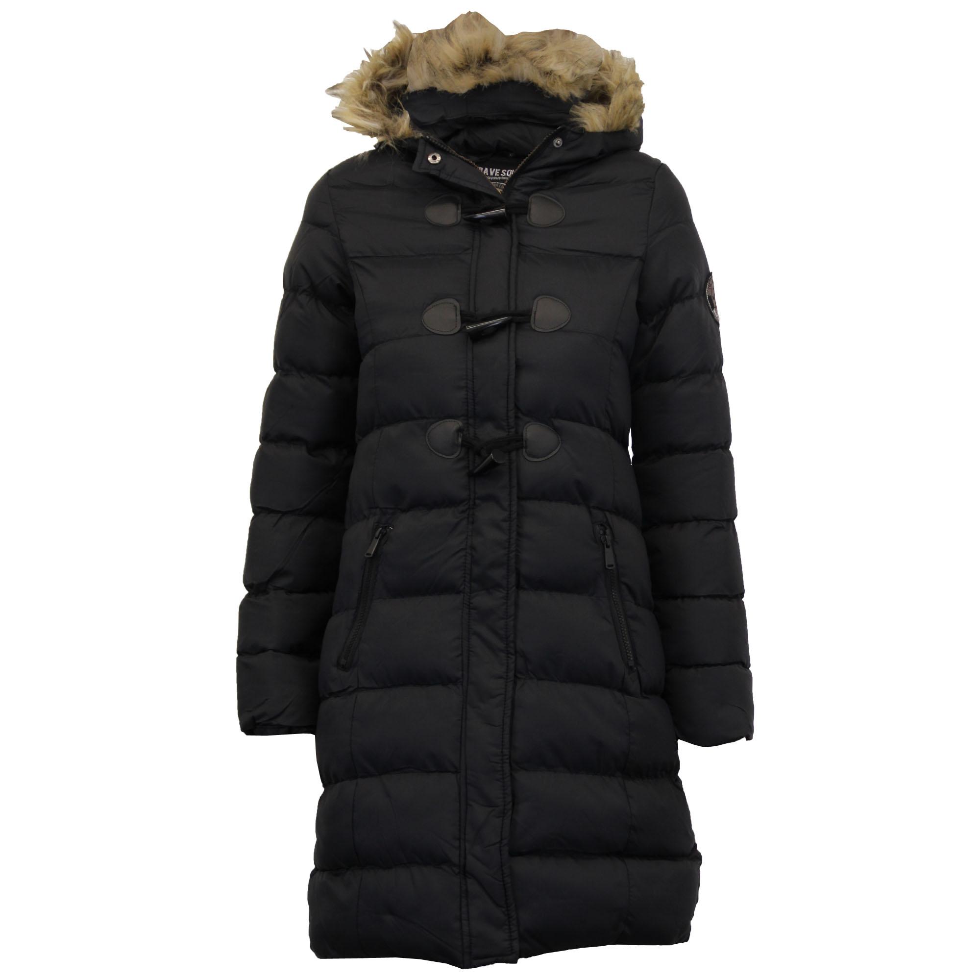 ladies long parka bubble jacket brave soul womens coat. Black Bedroom Furniture Sets. Home Design Ideas