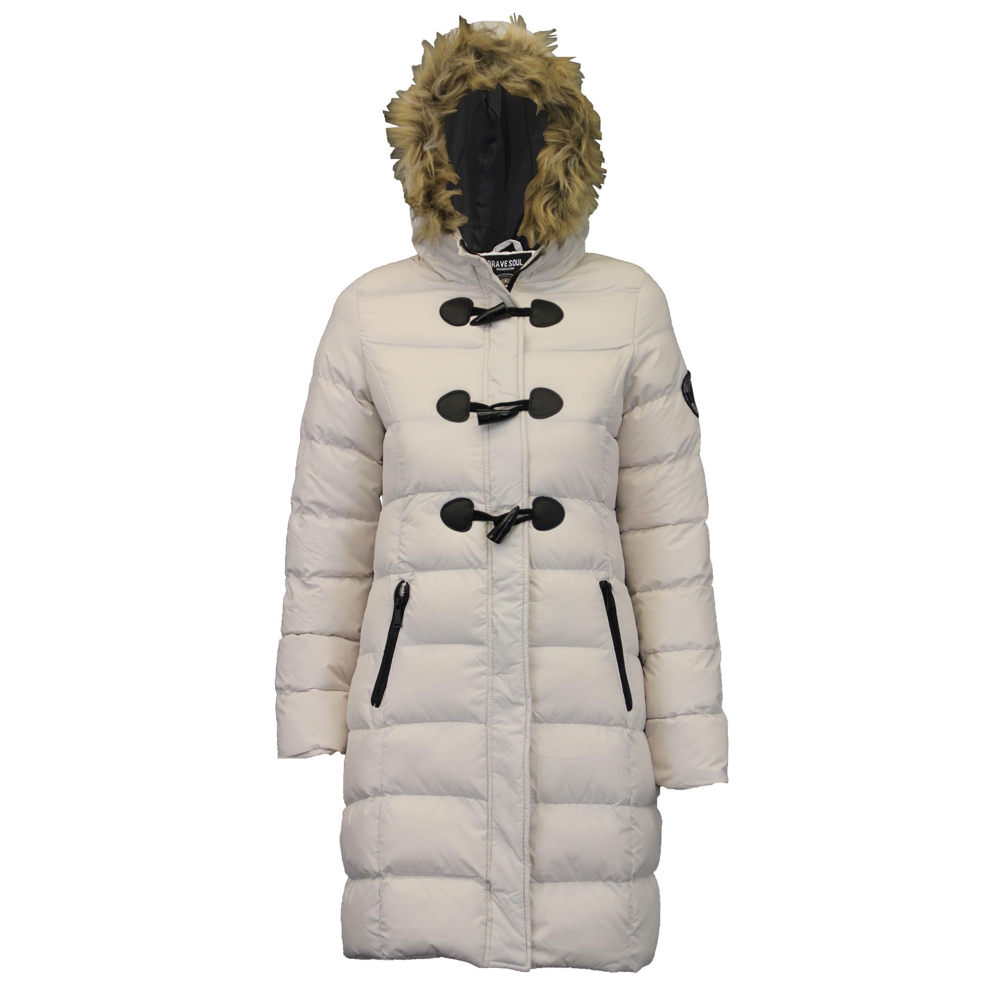 Ladies Long Parka Bubble Jacket Brave Soul Womens Coat ...