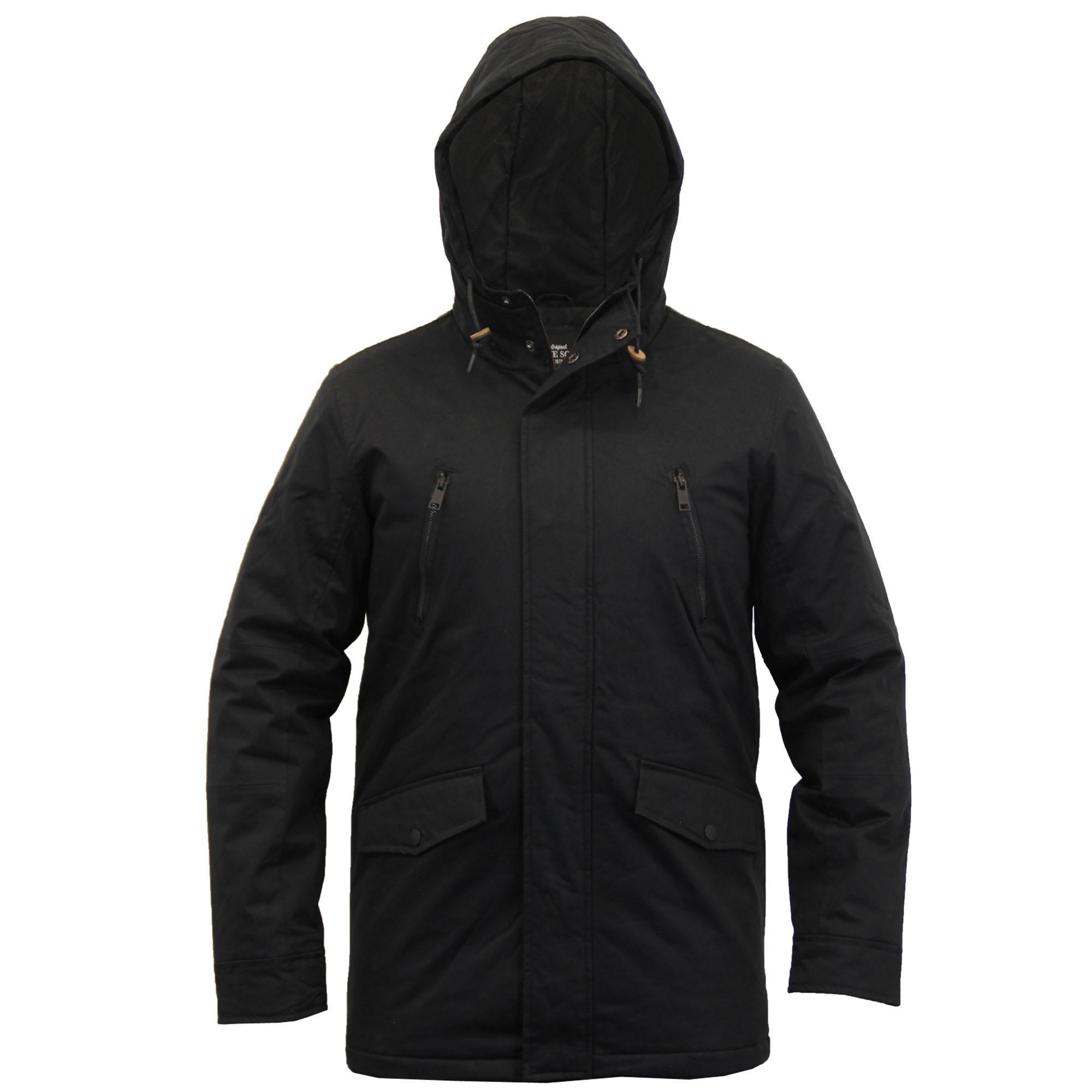 mens jacket brave soul coat padded windbreaker mesh hooded. Black Bedroom Furniture Sets. Home Design Ideas