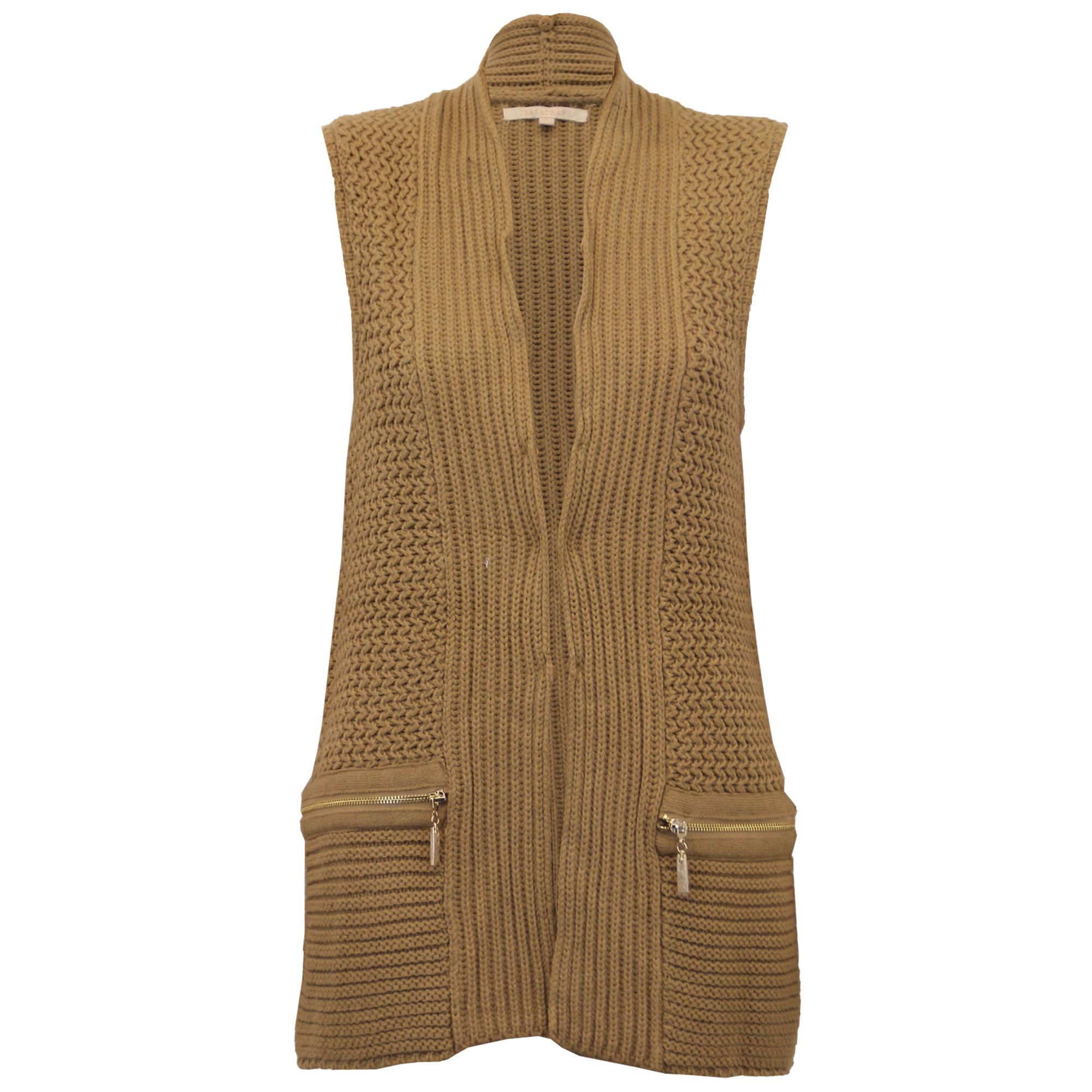 Ladies Gilet Threadbare Womens Knitted Bodywarmer Open Front Fur ...