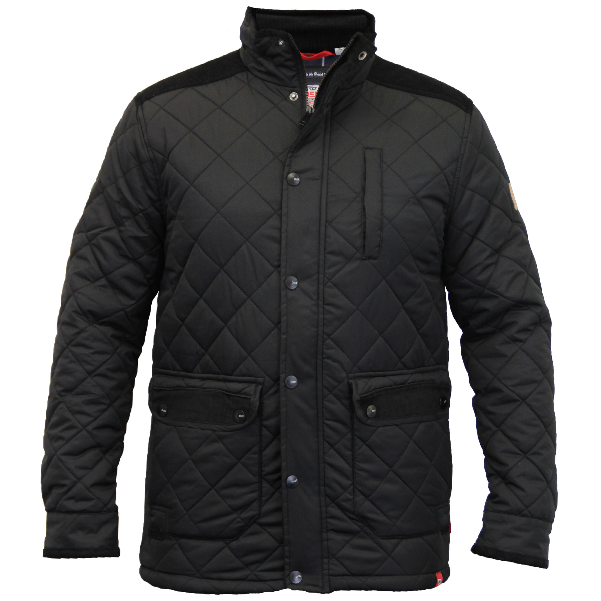 Mens Jacket D555 Duke Coat Big King Size Padded Corduroy Quilted ...