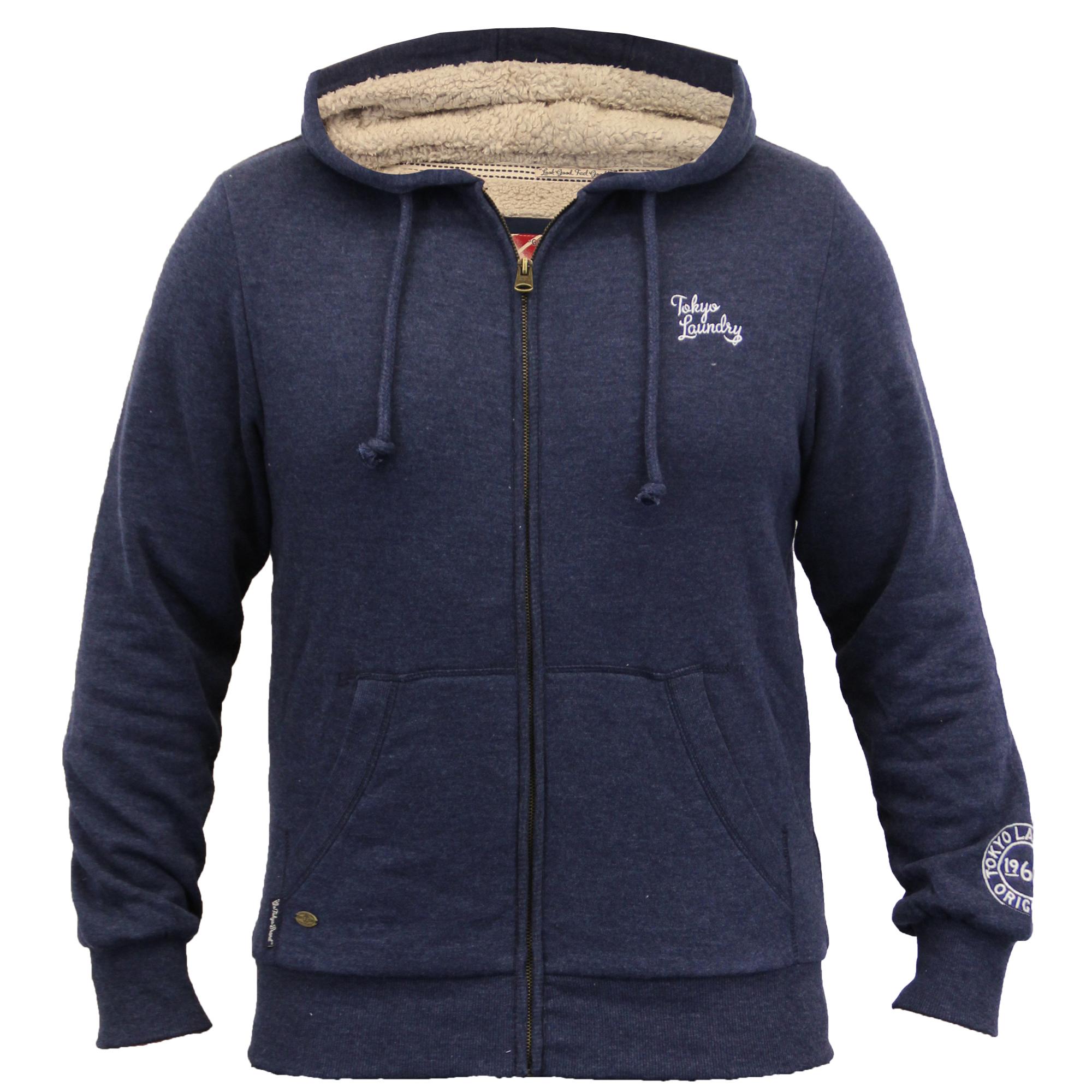 Veste homme tokyo laundry haut capuche sherpa polaire - Veste homme decontracte ...