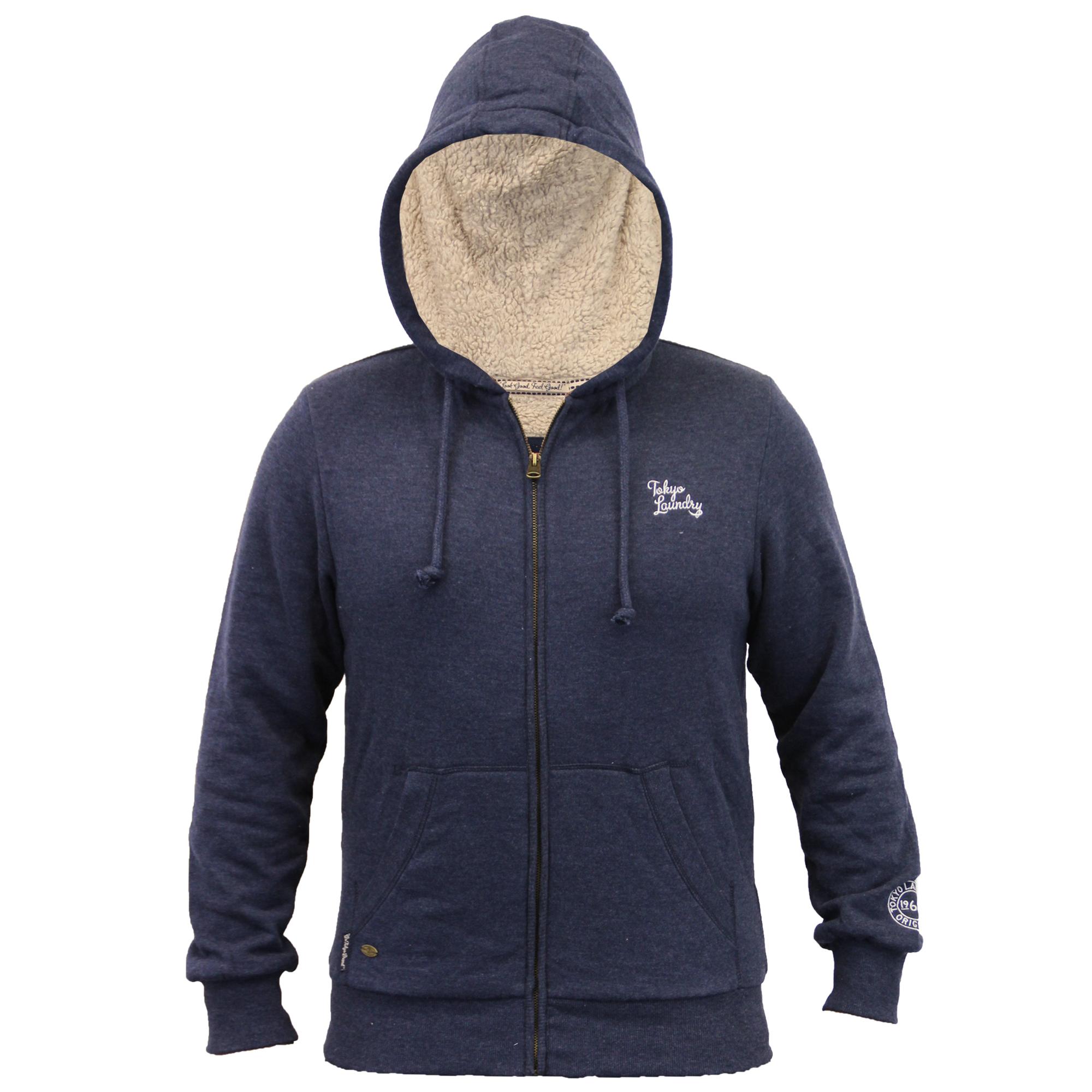 Veste homme tokyo laundry haut capuche sherpa polaire doubl d contract hiver neuf ebay - Veste homme decontracte ...