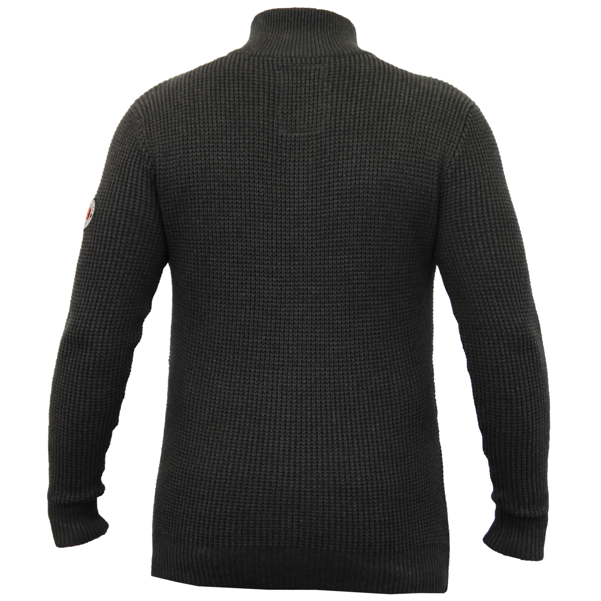 Mens Jumper Crosshatch Knitted Sweater Pullover Waffle Top ...