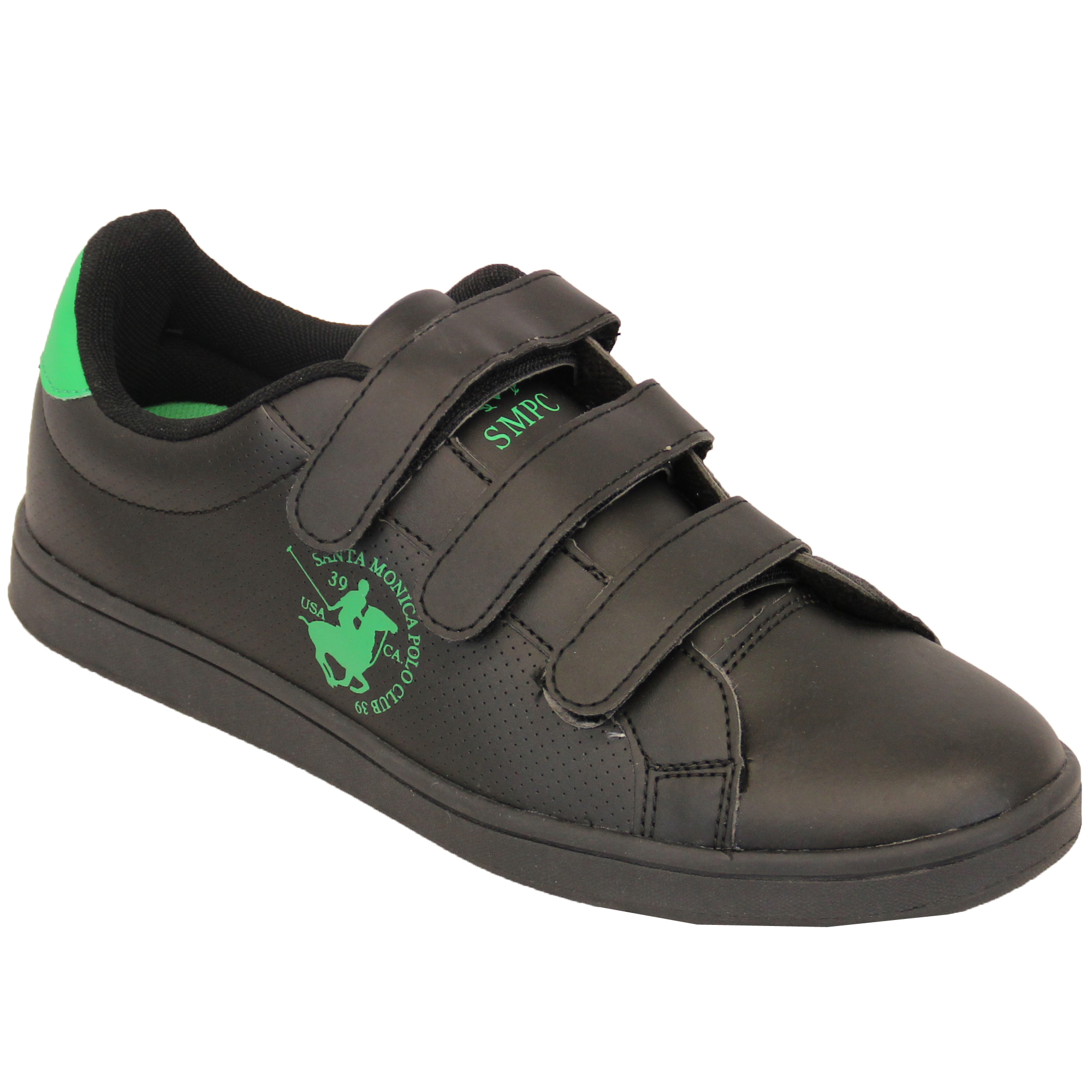 mens trainers santa polo club shoes lace up velcro