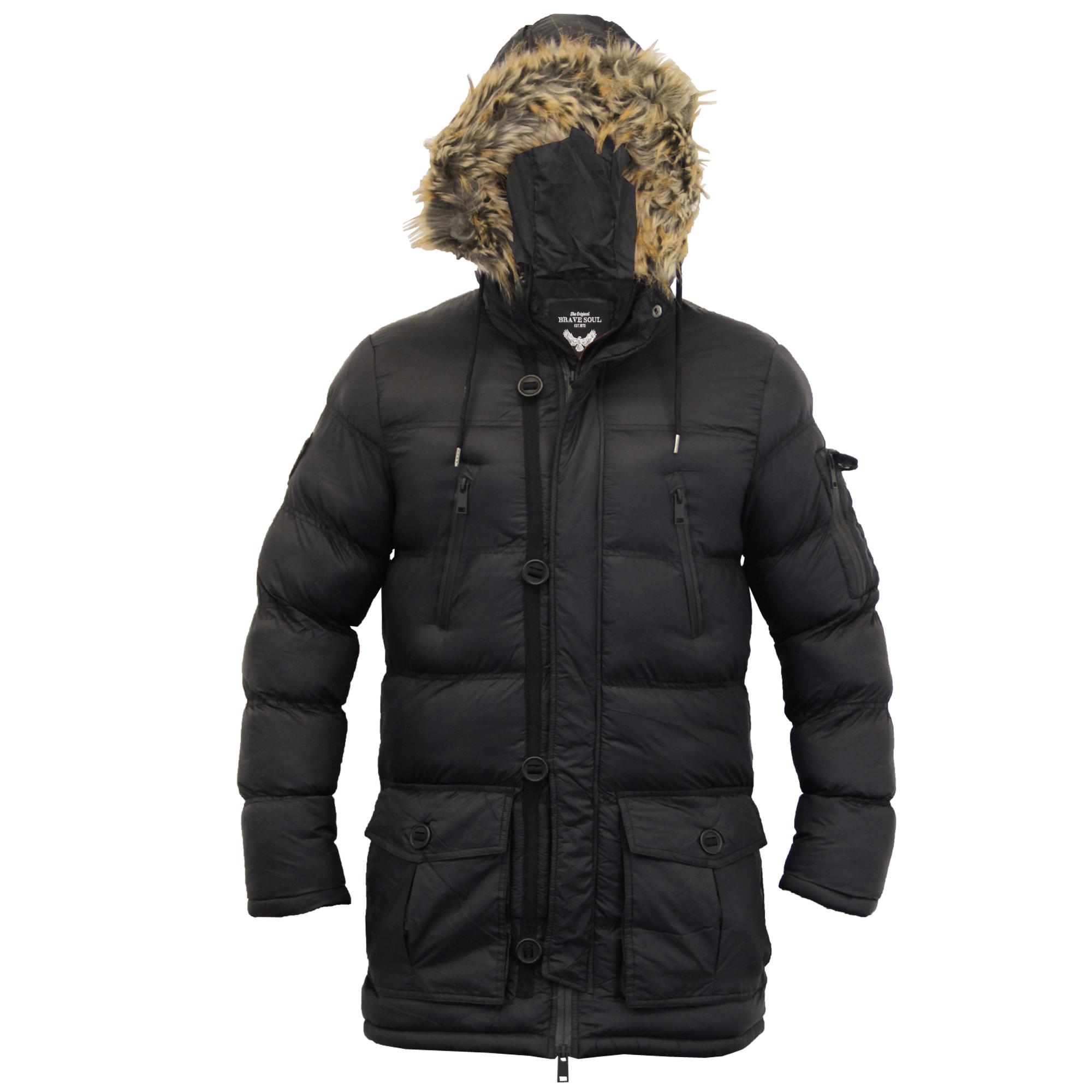mens bubble parka jacket brave soul coat camo military. Black Bedroom Furniture Sets. Home Design Ideas
