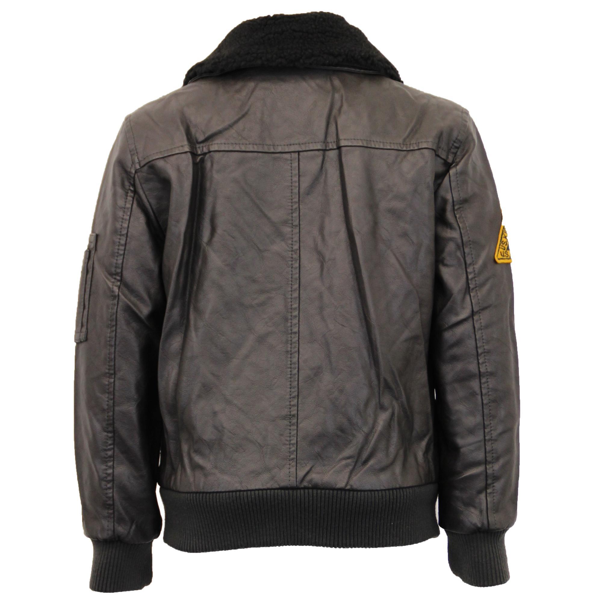Sherpa leather jacket