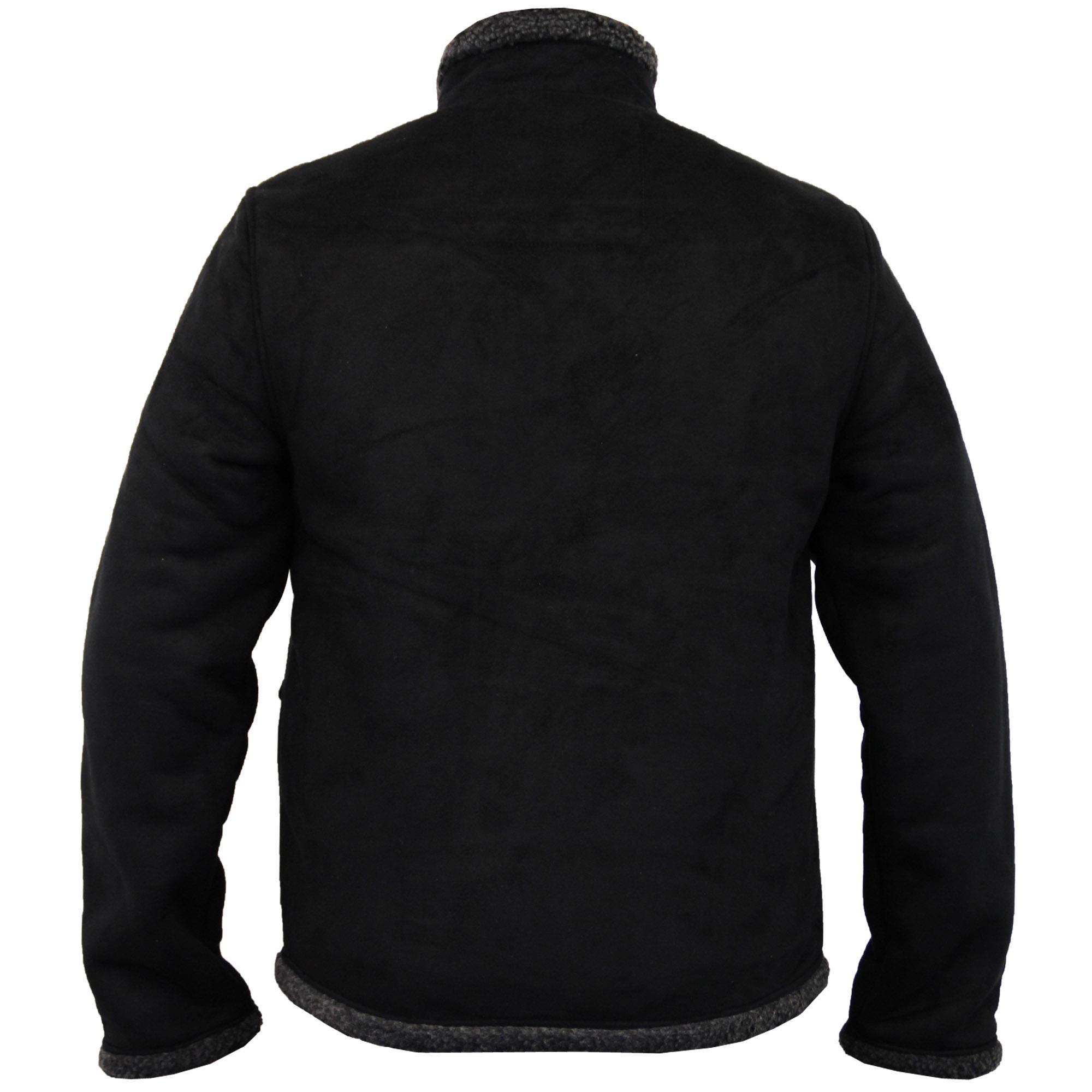 veste homme lim e de peau de mouton synth tique manteau. Black Bedroom Furniture Sets. Home Design Ideas