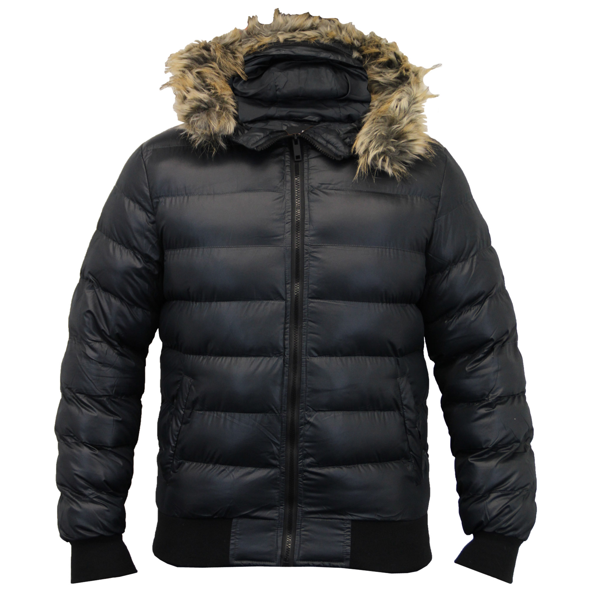 Henoo Men's Hooded Winter Jacket - Outdoor Thick Down Jacket with Removable Faux Fur Collar Hood, Black & White by Henoo $ - $ $ 14 99 - $ 36 99 Prime.