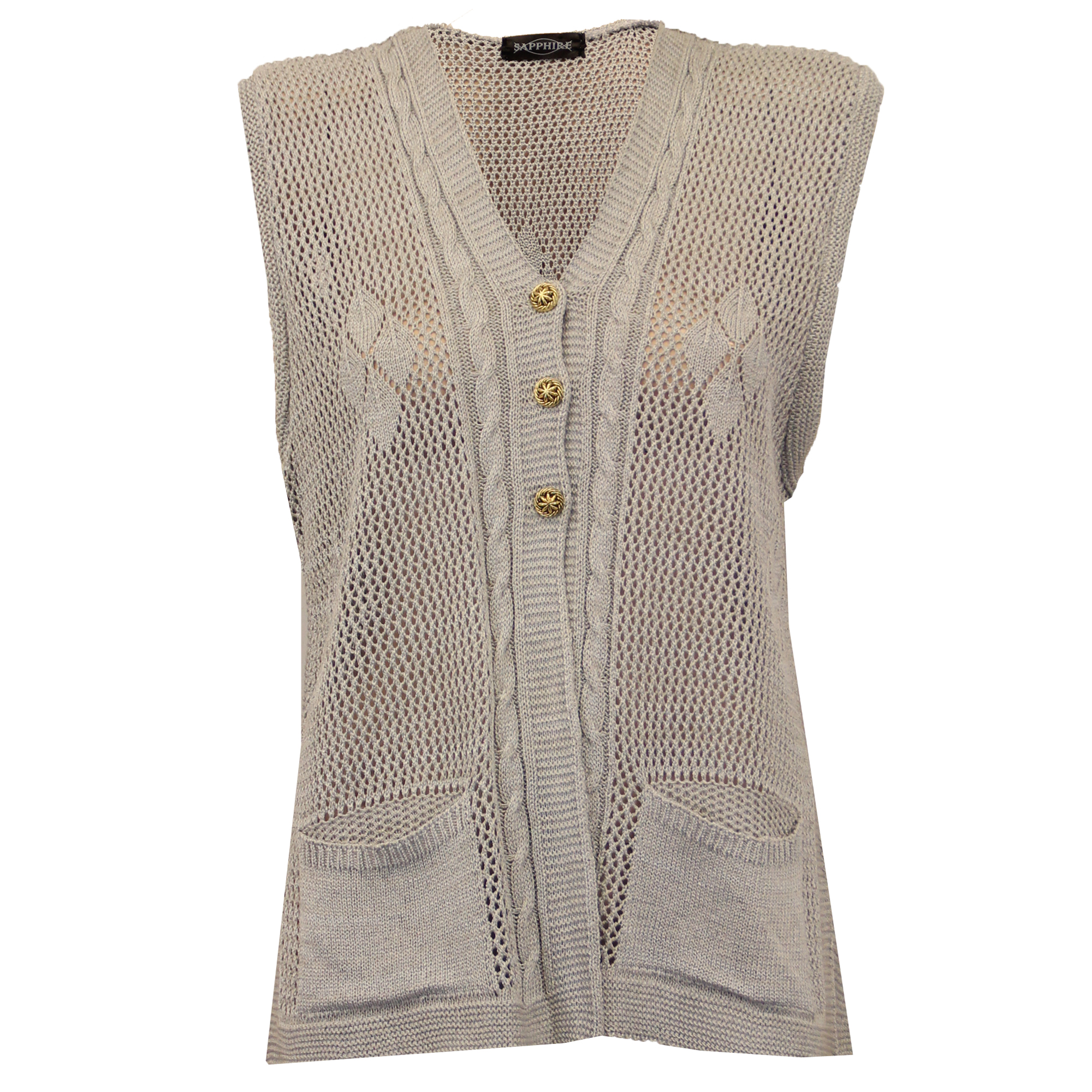 Ladies Cardigans Womens Gilet Knitted Crochet Waistcoat ...