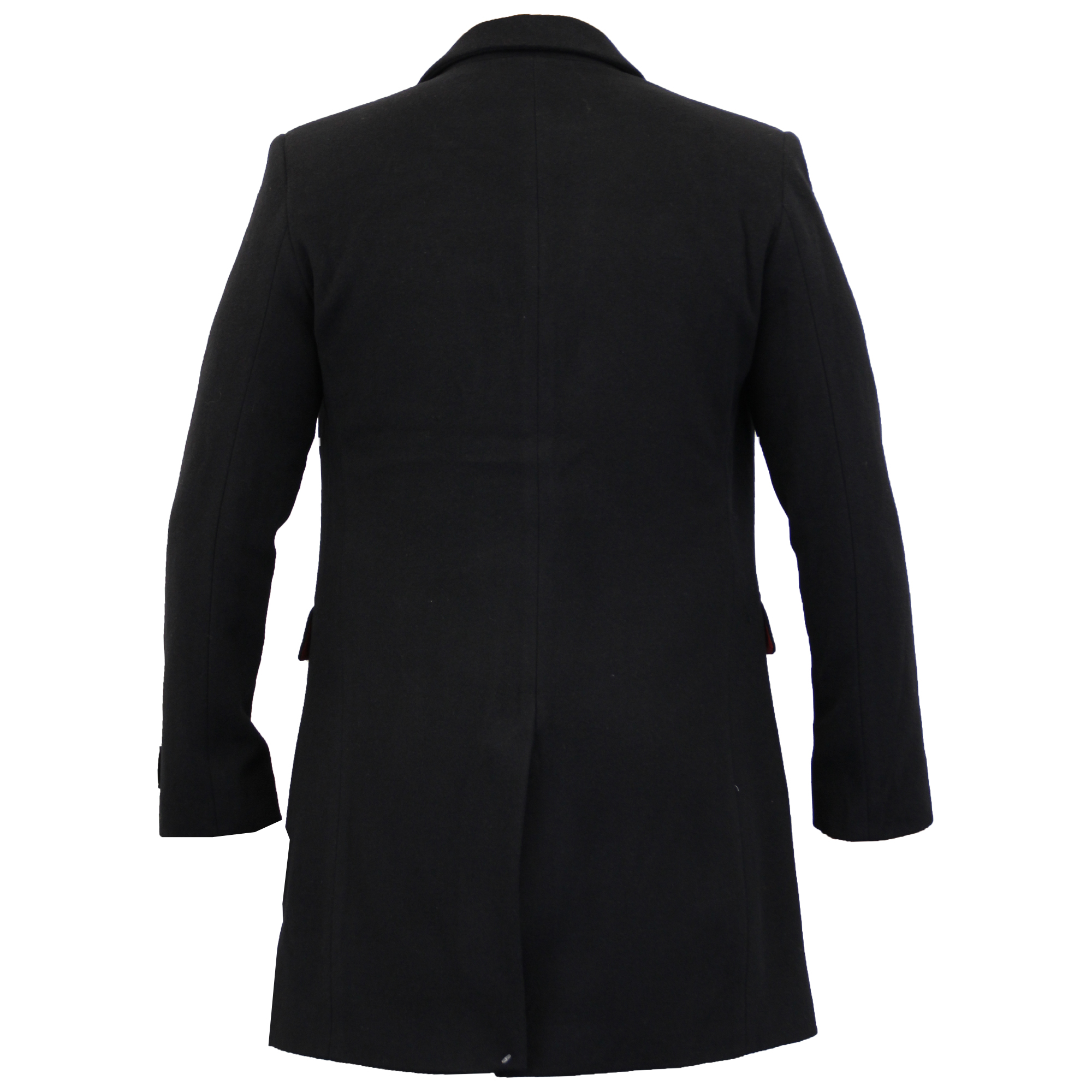Mens Wool Cashmere Coat Jacket Slim Fit Outerwear Trench ...