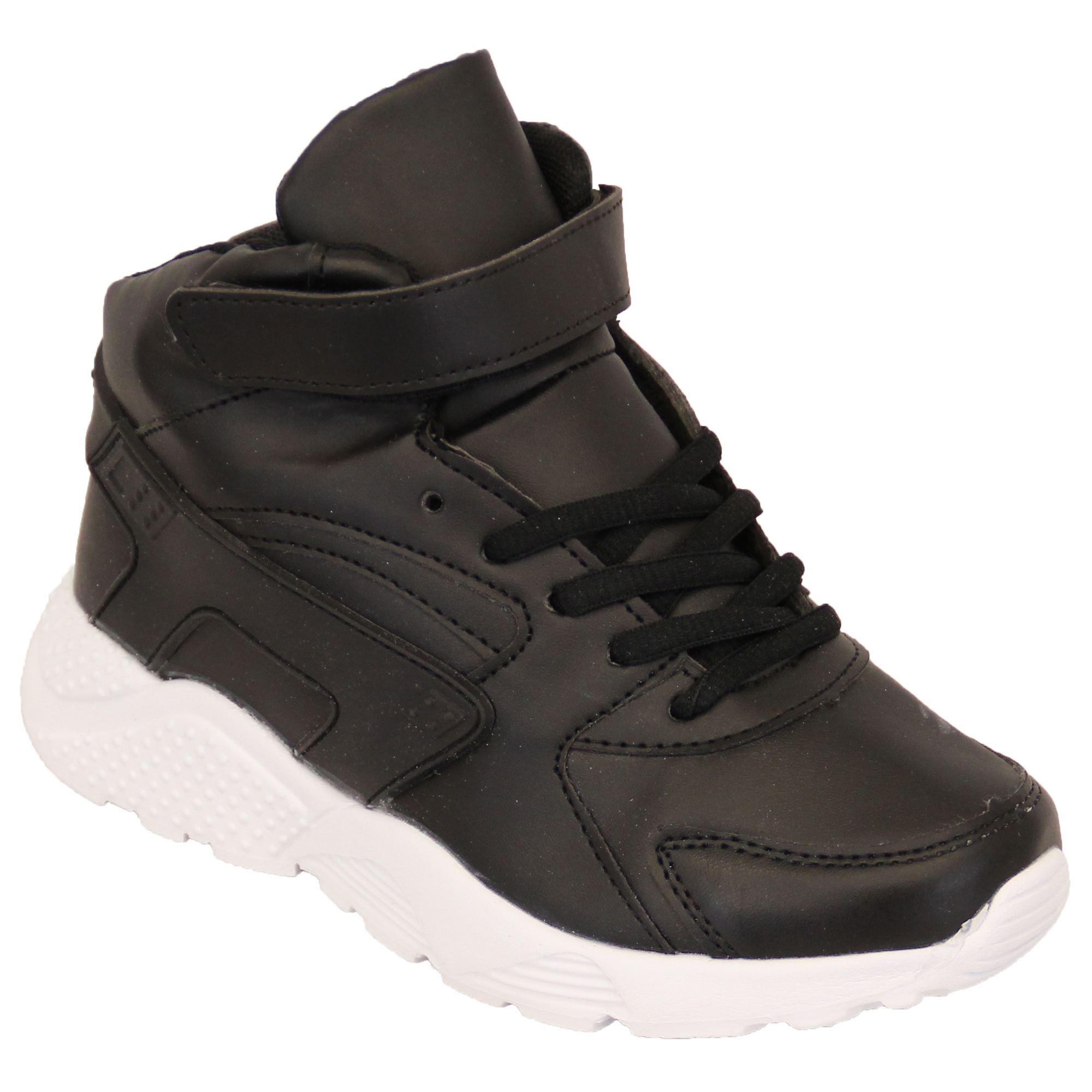 boys trainers velcro lace up infants high ankle pumps