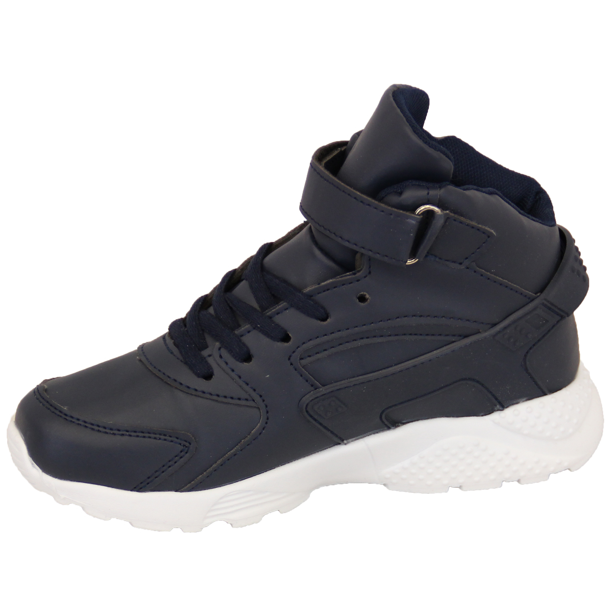 Boys Trainers Kids Velcro Lace Up Infants High Ankle Pumps Tennis Shoes Casual | EBay