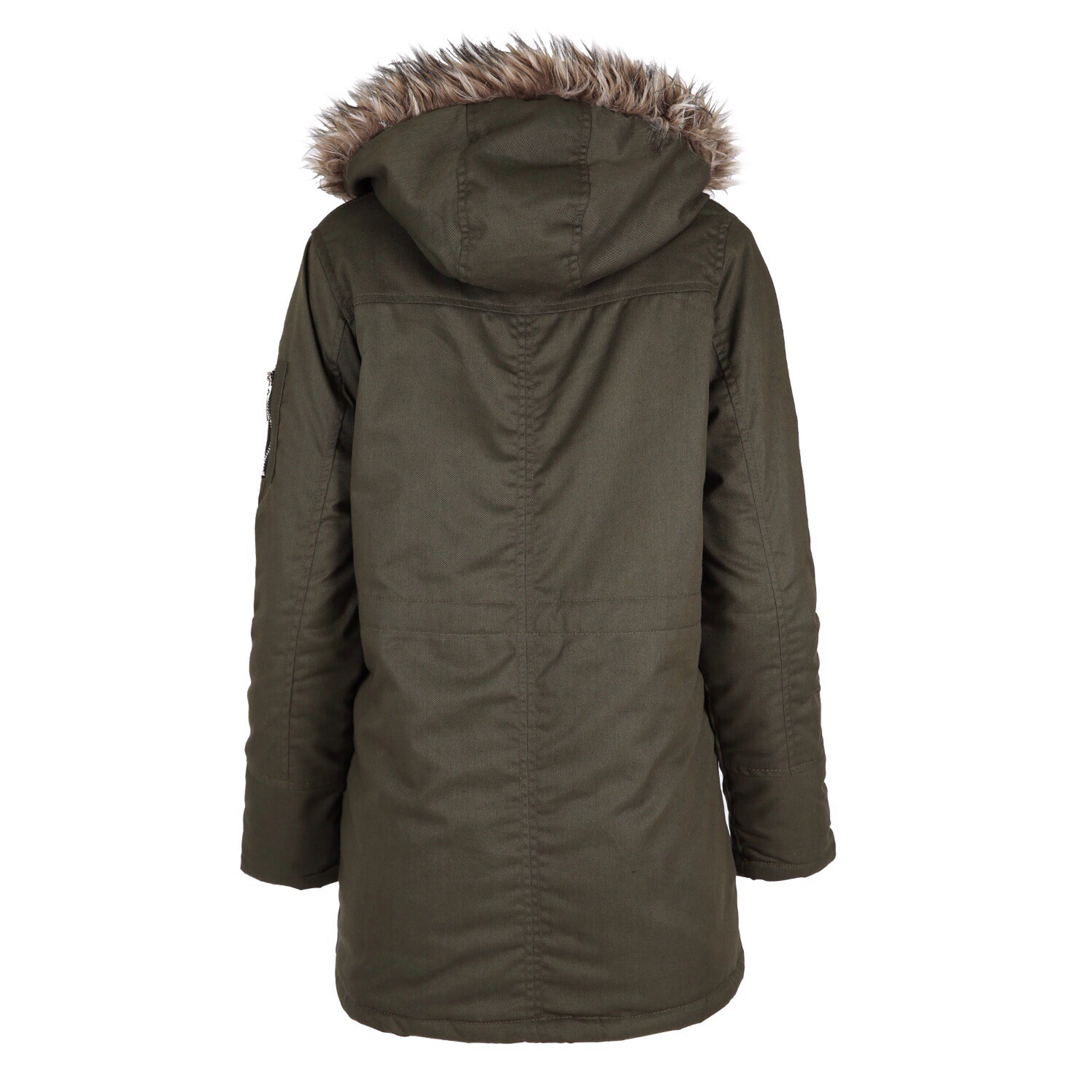 Ladies Parka Jacket Womens Coat Padded Hooded Fur Sherpa ...