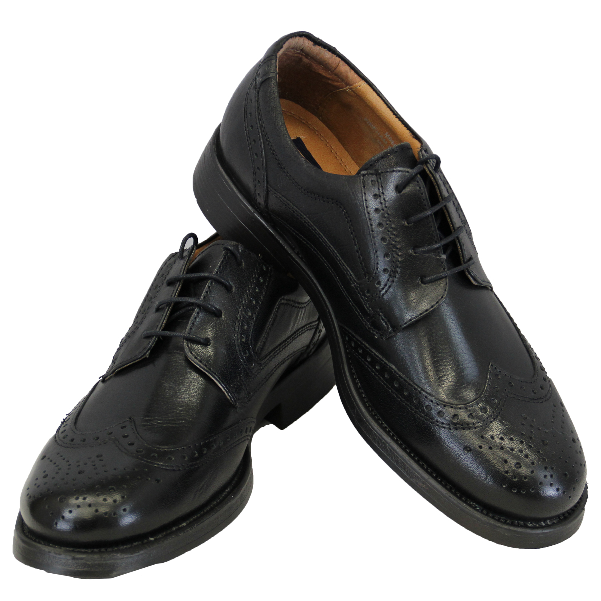 mens leather boots brogue lace up shoes formal casual
