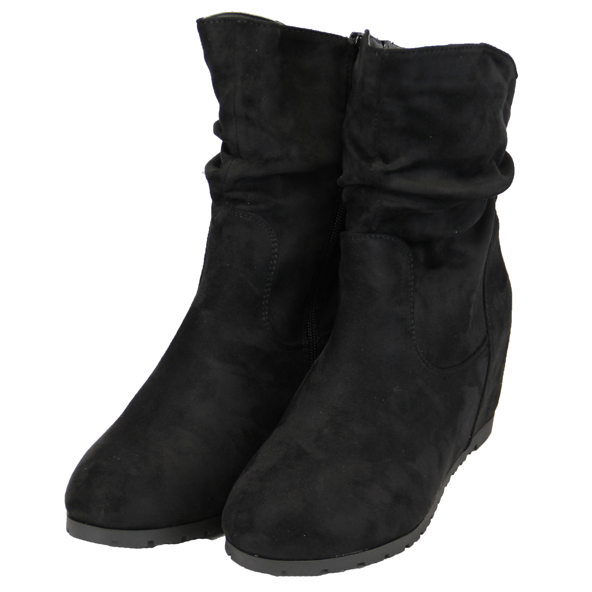chelsea ankle boots womens suede look hi top faux