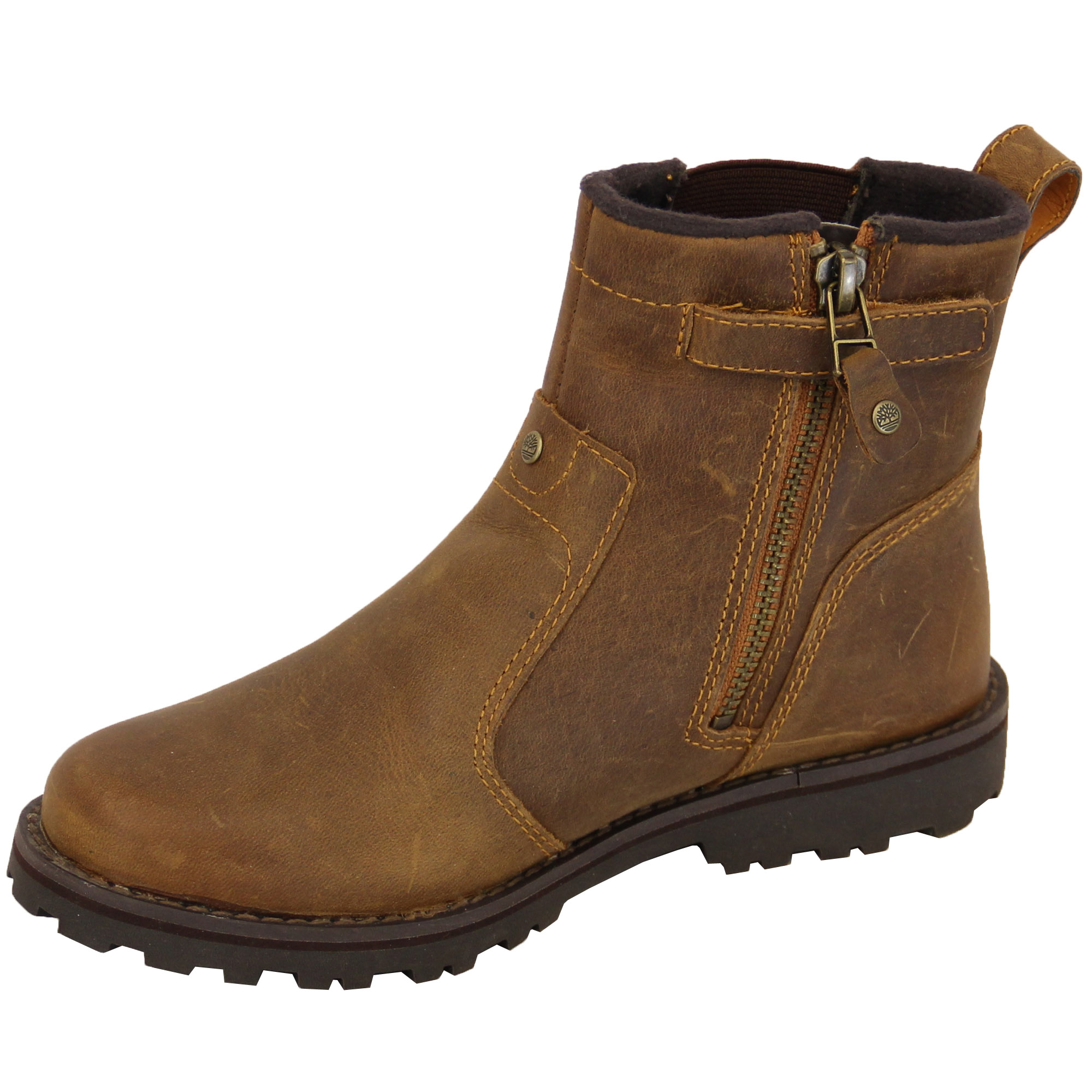 boys leather ankle boots timberland chelsea high top