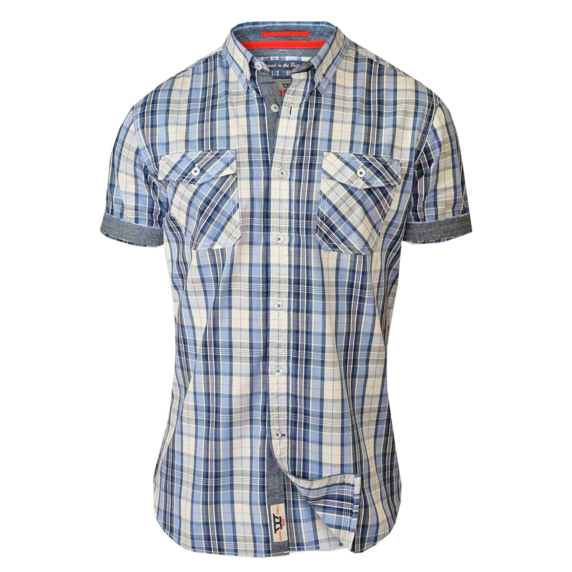 Mens Checked Shirt D555 Duke Collared Short Sleeved Tartan