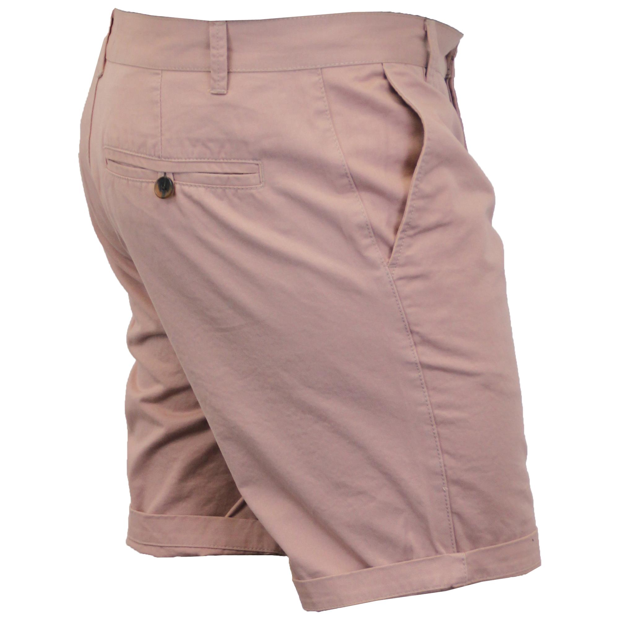 Mens Chino Shorts Threadbare Pants Westace Stallion Knee Length Roll Up Summer