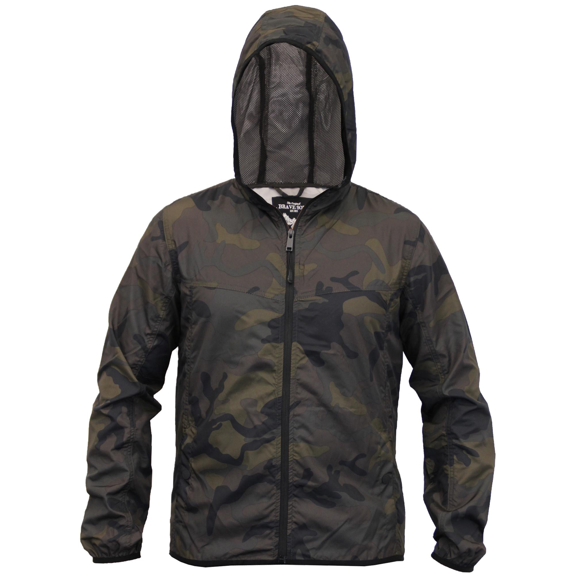 homme camouflage veste brave soul kagool manteau militaire capuche coupe vent maille neuf ebay. Black Bedroom Furniture Sets. Home Design Ideas