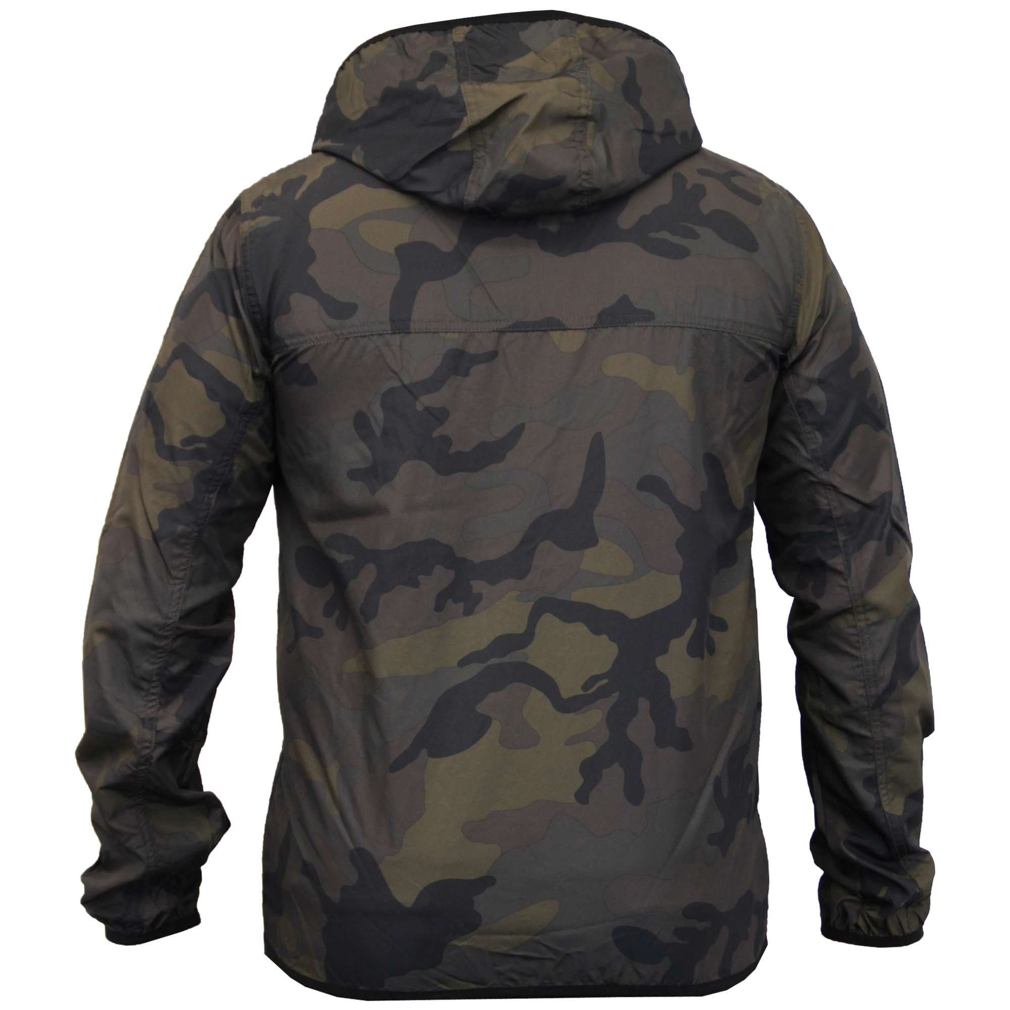 mens camouflage jacket brave soul kagool coat military hooded cagoule mesh new ebay. Black Bedroom Furniture Sets. Home Design Ideas