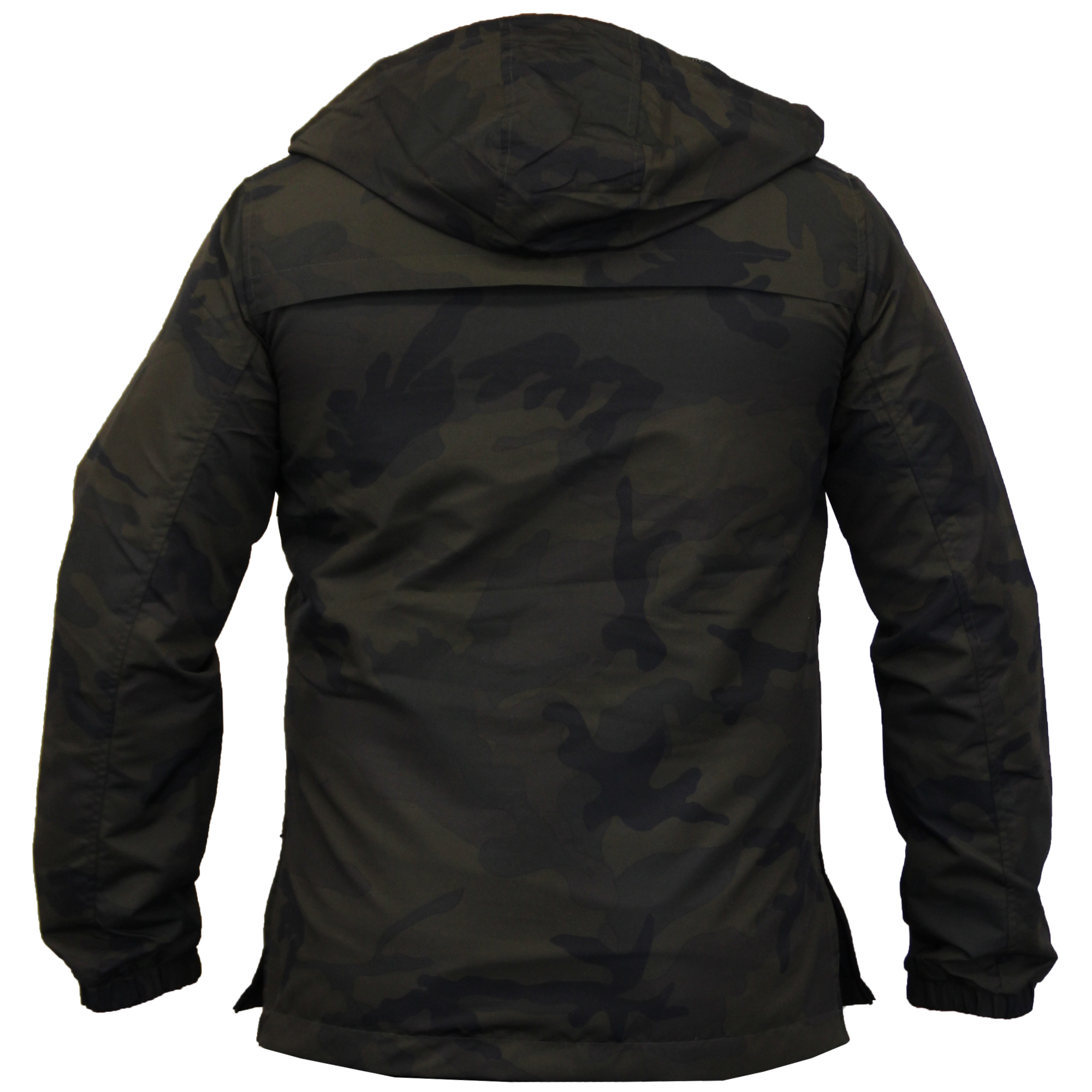 mens camo jacket brave soul windbreaker over the head coat. Black Bedroom Furniture Sets. Home Design Ideas