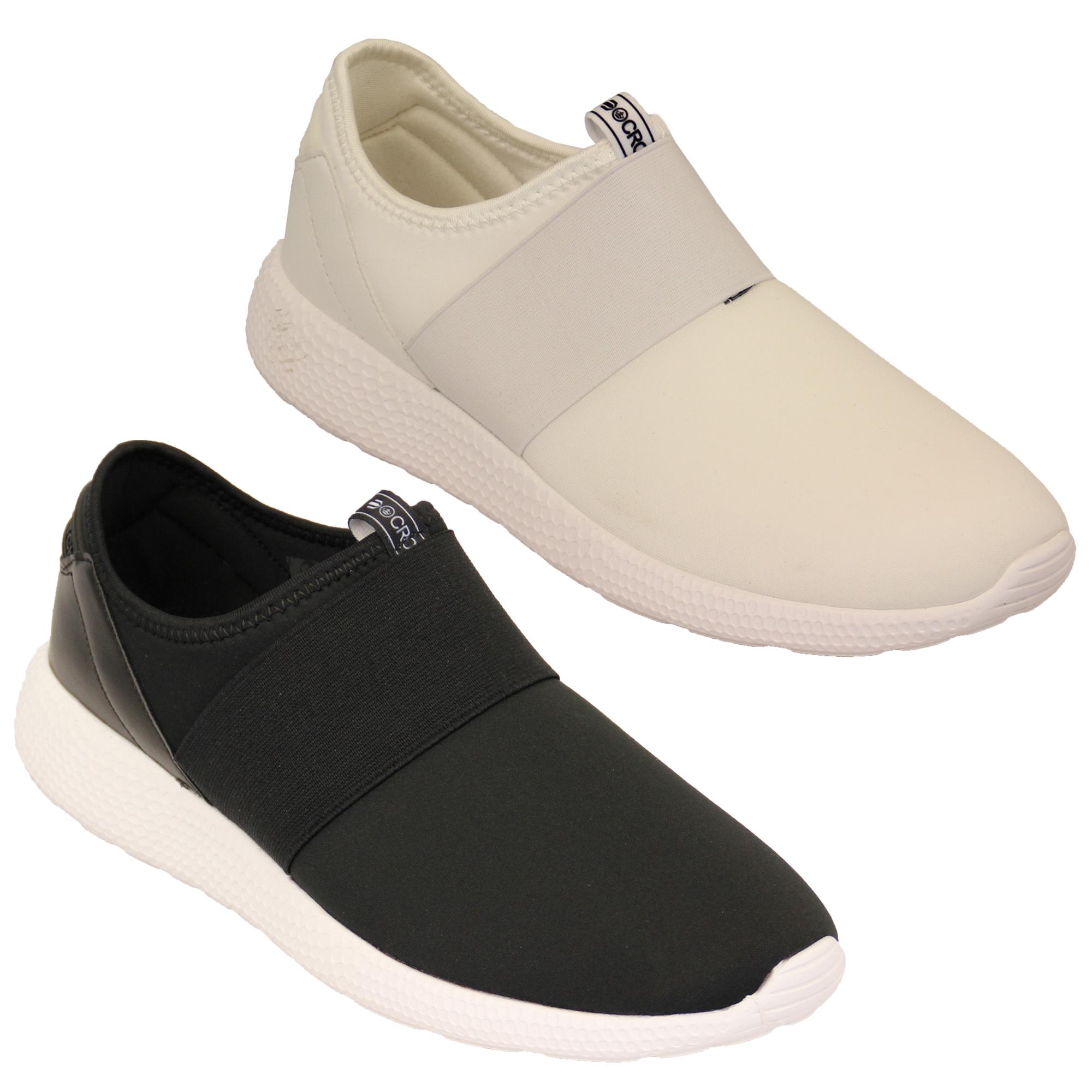 mens trainers crosshatch slip on running sneakers pumps