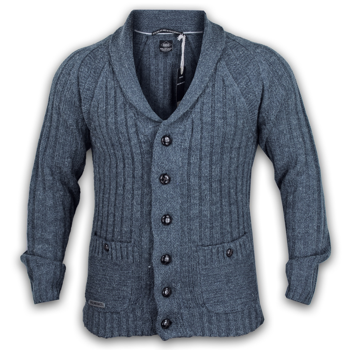 Mens Wool Button Cardigan